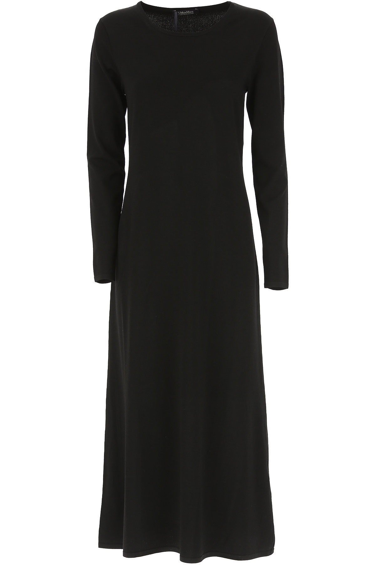 Max Mara Dress for Women, Evening Cocktail Party On Sale, Black, Viscose, 2019, 4 6