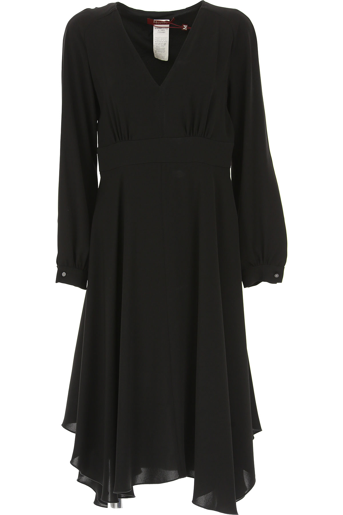 Image of Weekend by Max Mara Dress for Women, Evening Cocktail Party, Black, Triacetate, 2017, 10 6 8
