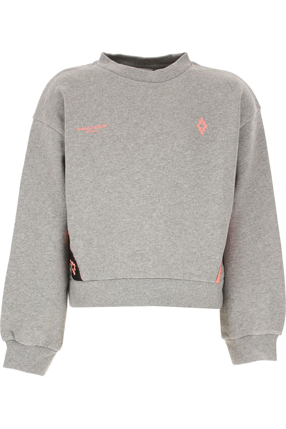 Marcelo Burlon Kids Sweatshirts & Hoodies for Girls On Sale, Grey, Cotton, 2019, 10Y 12Y 14Y 8Y