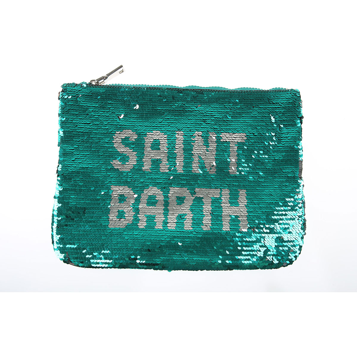 Mc2 Saint Barth Pochette Clutch, Vert, Polyester, 2019