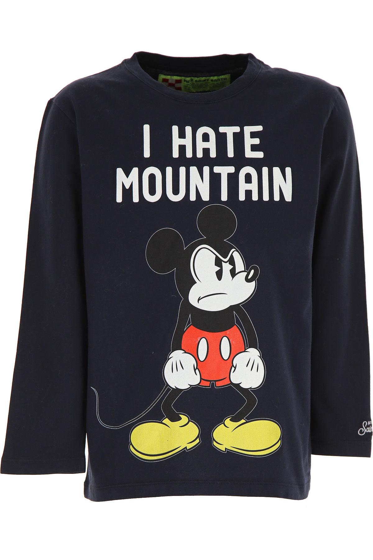 Mc2 Saint Barth Kids T-Shirt for Boys On Sale, Ink Blue, Cotton, 2019, 16Y 2Y 6Y