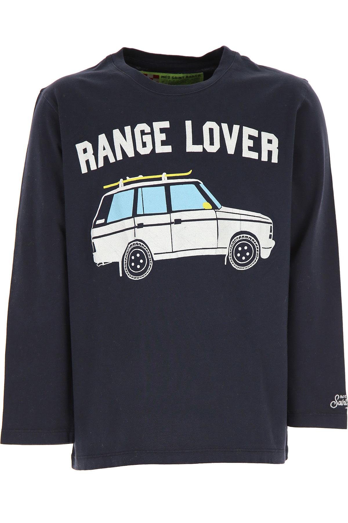 Mc2 Saint Barth Kids T-Shirt for Boys On Sale, Ink Blue, Cotton, 2019, 12Y 14Y 16Y 2Y 4Y 6Y 8Y