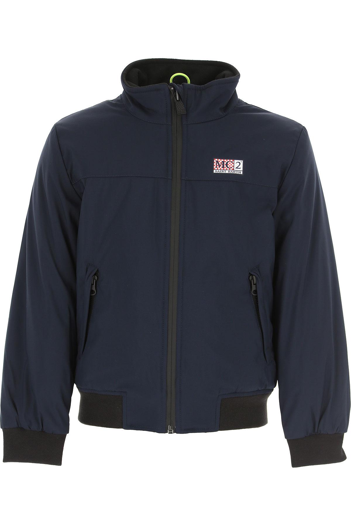 Mc2 Saint Barth Kids Jacket for Boys On Sale, Blue Navy, polyester, 2019, 12Y 4Y 6Y 8Y