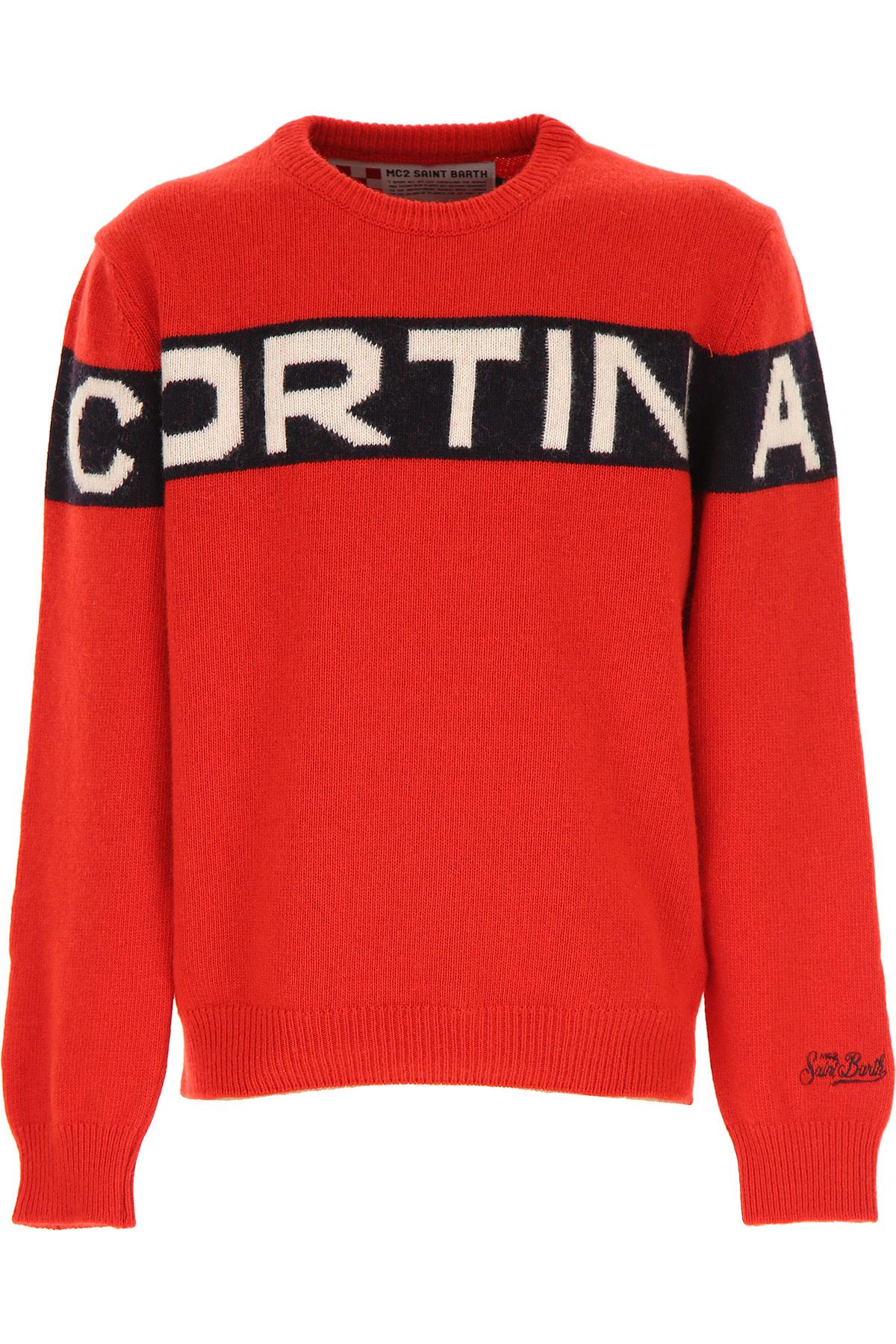 Mc2 Saint Barth Kids Sweaters for Boys On Sale, Red, Wool, 2019, 10Y 12Y 14Y 16Y 2Y 4Y 6Y 8Y