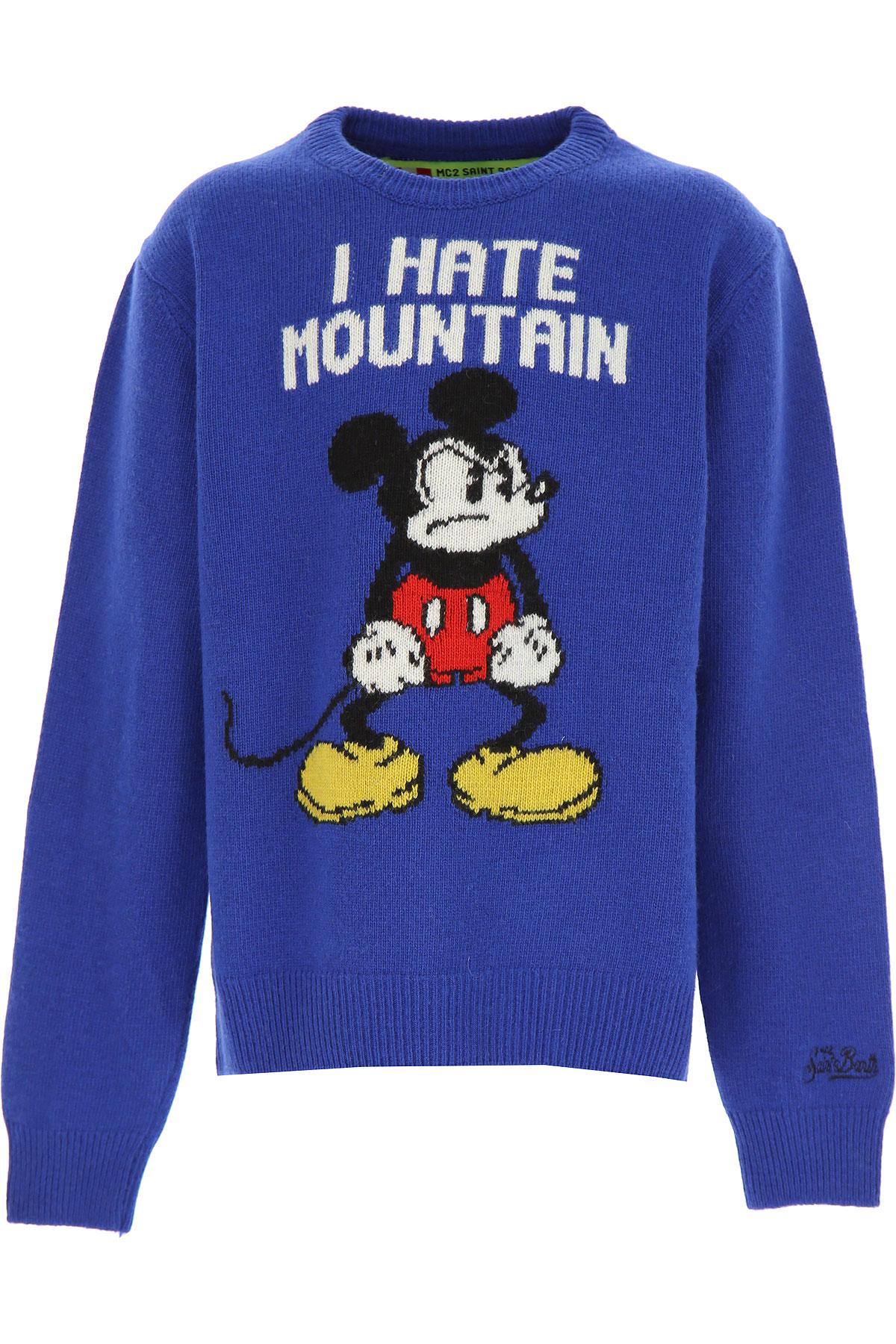 Mc2 Saint Barth Kids Sweaters for Boys On Sale, Electric Blue, Wool, 2019, 10Y 12Y 16Y 2Y 4Y 8Y