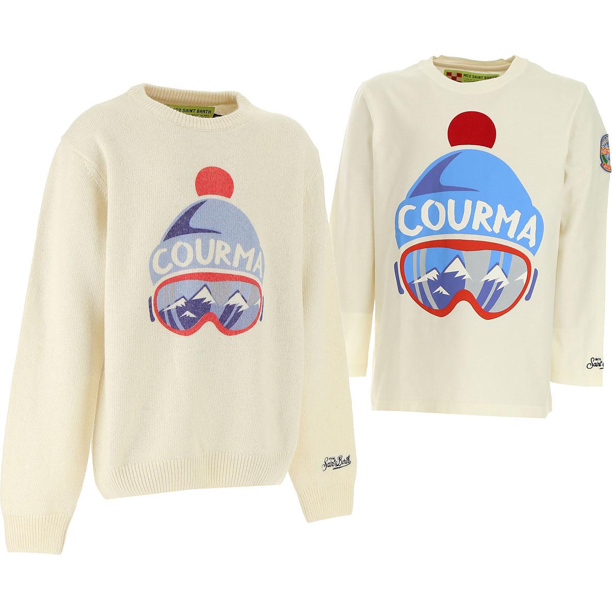 Mc2 Saint Barth Kids Sweaters for Boys On Sale, Cream, Wool, 2019, 12Y 16Y 2Y 4Y 8Y
