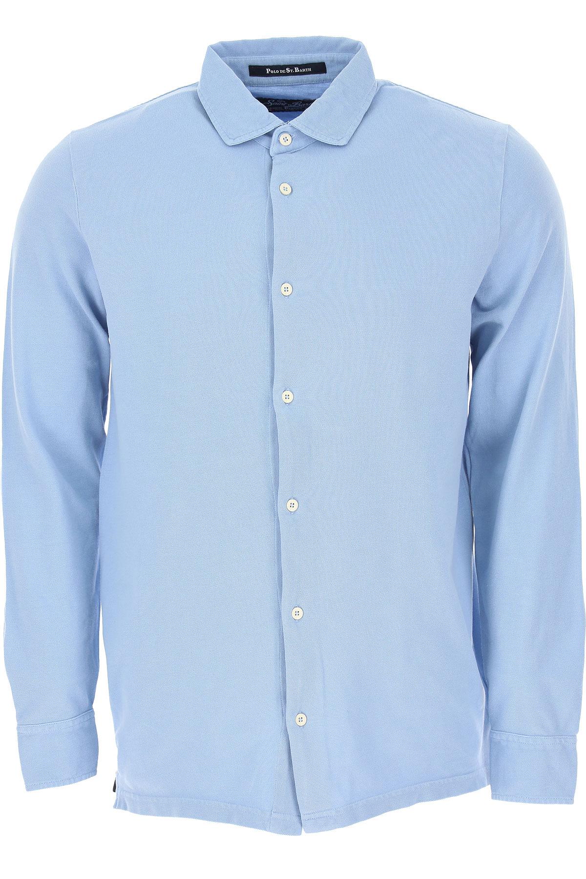 Mc2 Saint Barth Chemise Homme, Bleu clair, Coton, 2019, S XXL