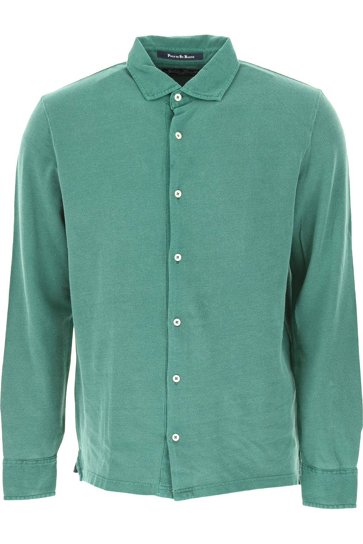 Mc2 Saint Barth Chemise Homme, Vert, Coton, 2017, L M S XL