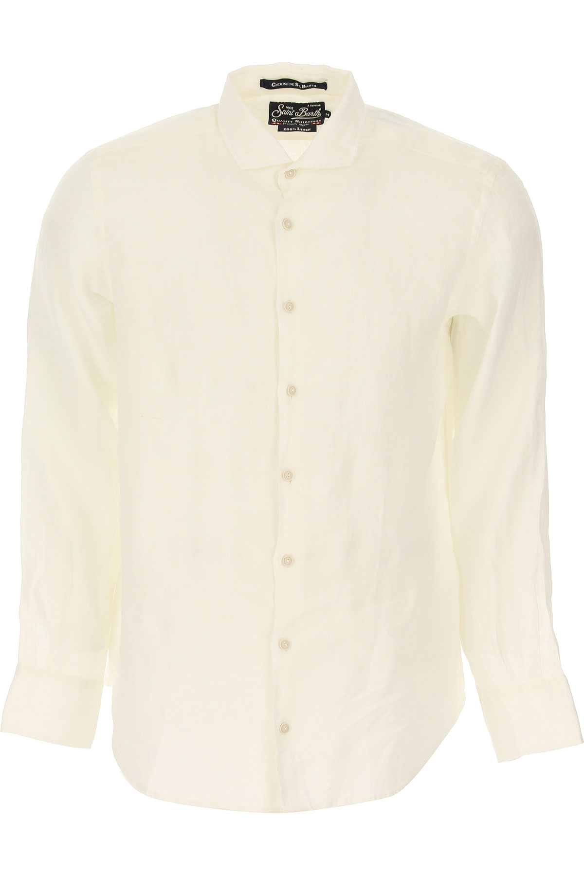 Mc2 Saint Barth Chemise Homme, Blanc, Lin, 2019, M S