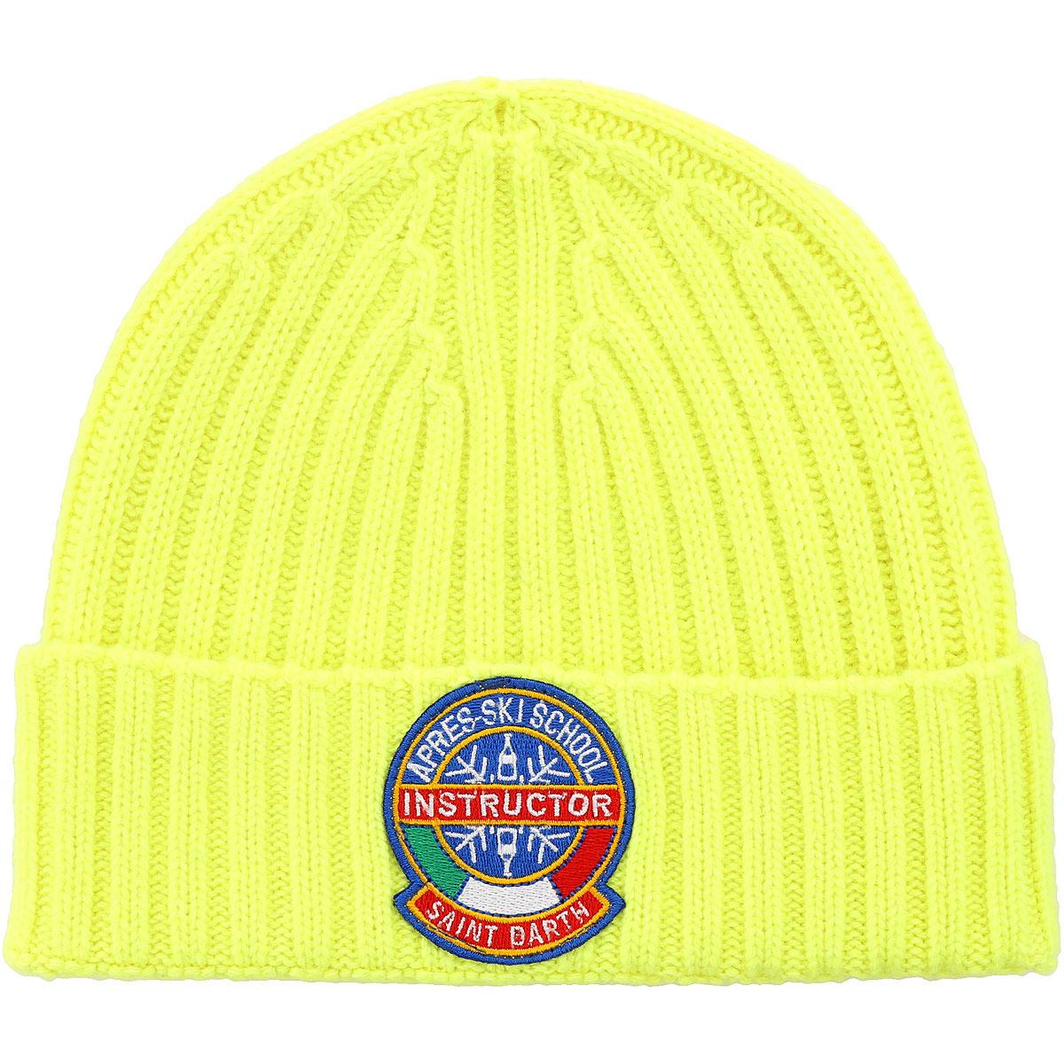 Mc2 Saint Barth Hat for Women, fluo yellow, Wool, 2019
