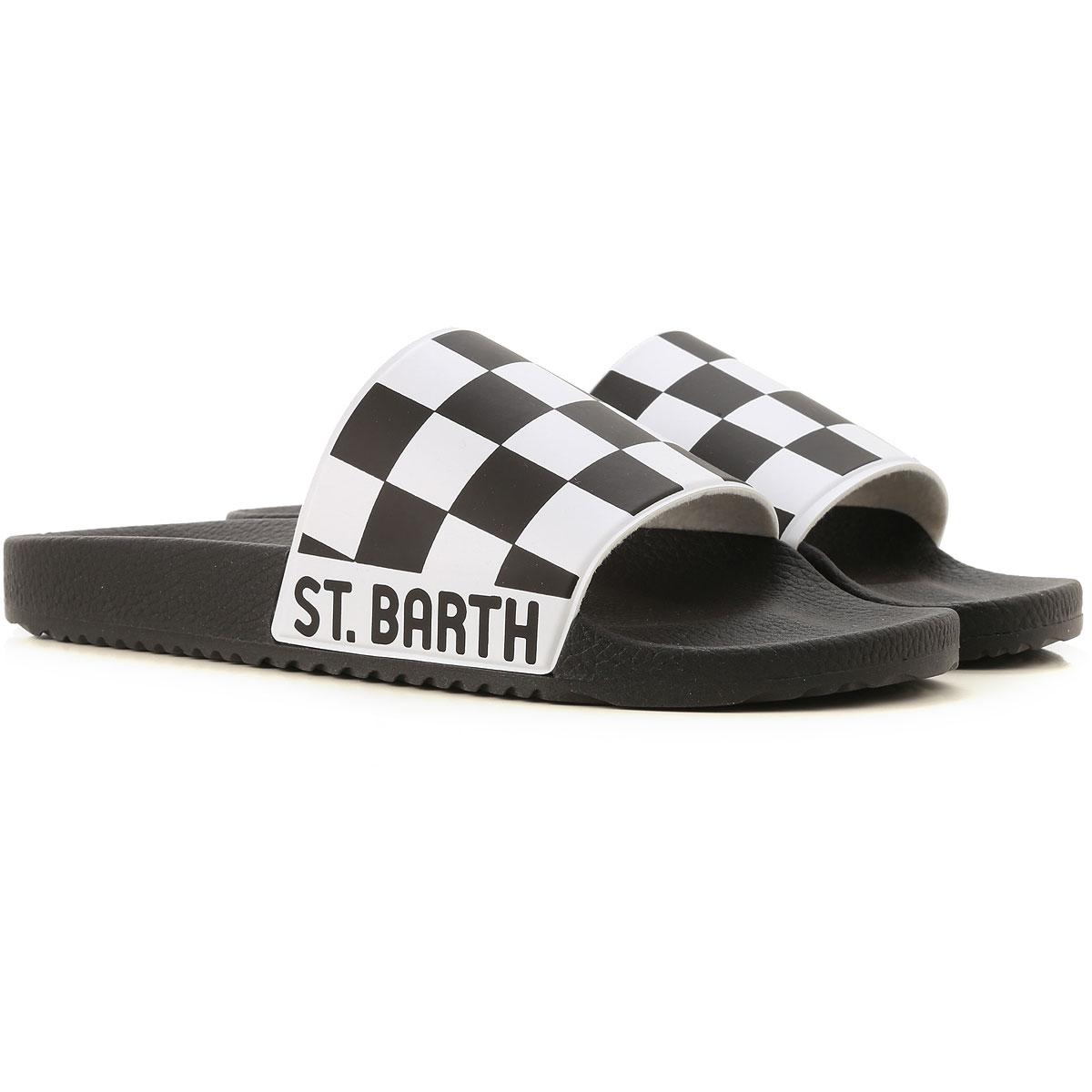 Mc2 Saint Barth Chaussure Tong Homme Pas cher en Soldes Outlet, Noir, PVC, 2019, EU 41-42 EU 45-46
