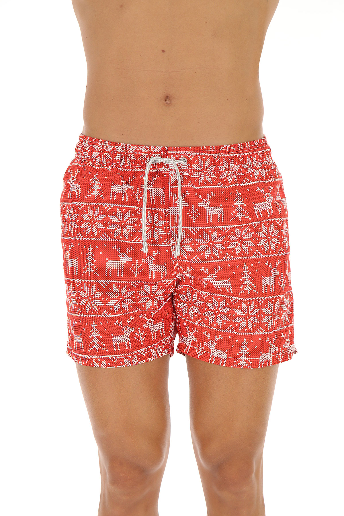 Image of Mc2 Saint Barth Swim Shorts Trunks for Men, Christmas Edition, Red, polyester, 2017, S M L XL