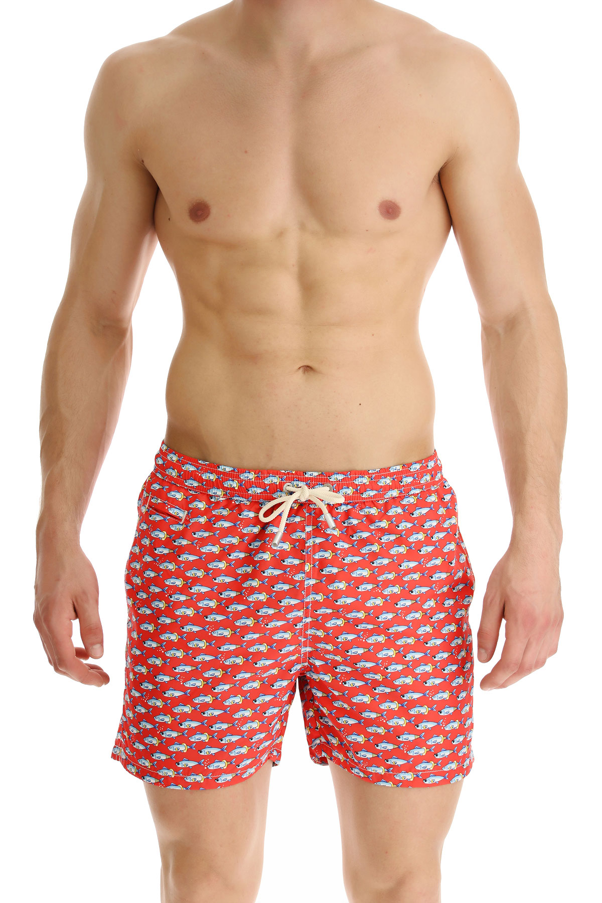 Mc2 Saint Barth Short de Bain Homme, Rouge, Polyester, 2019, M XL