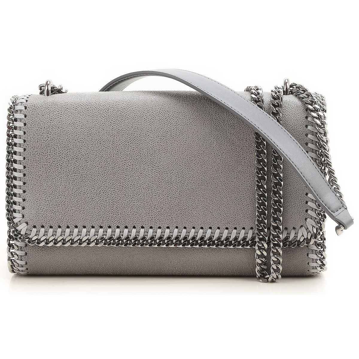 Stella McCartney Shoulder Bag for Women, Grey Light, Eco Leather, 2017 USA-387483