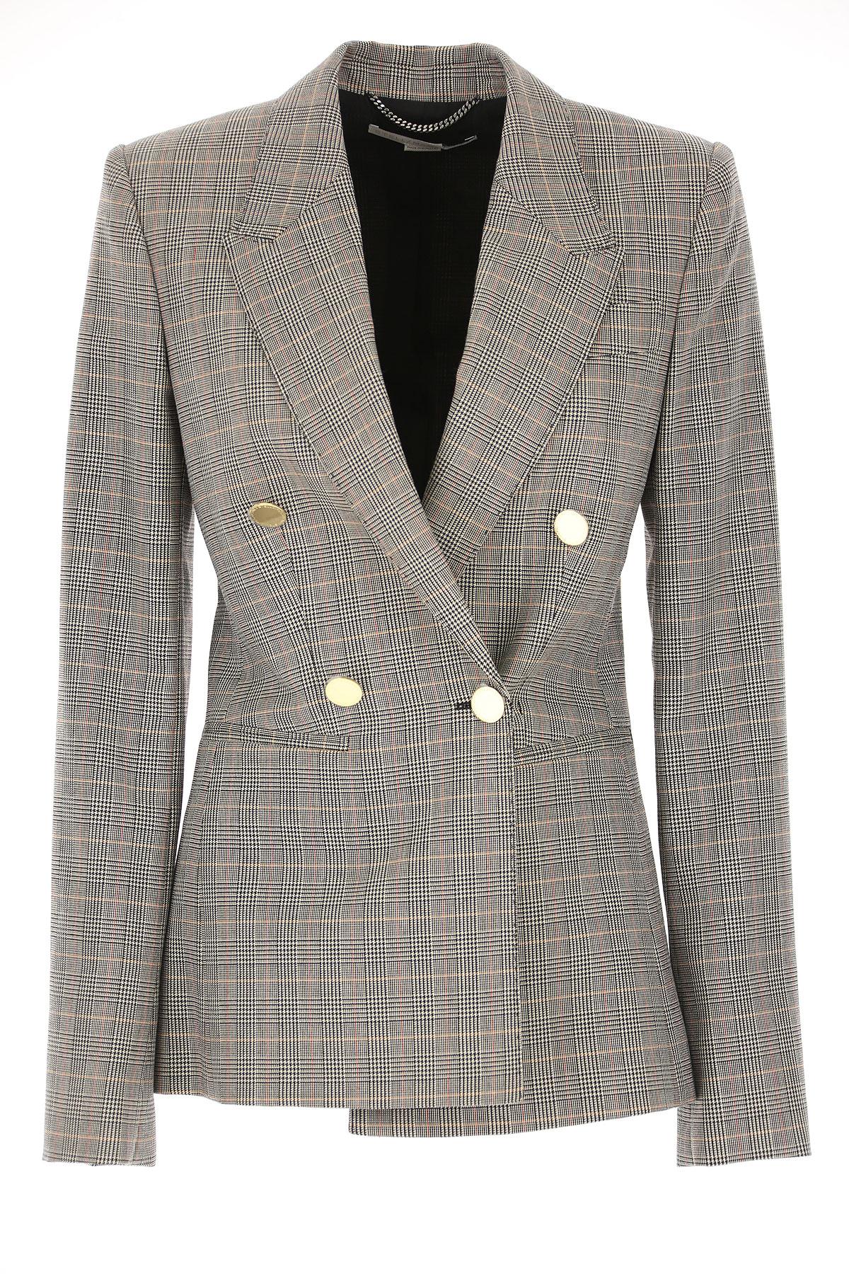 Stella McCartney Blazer for Women On Sale, Black, Wool, 2019, 10 6 8