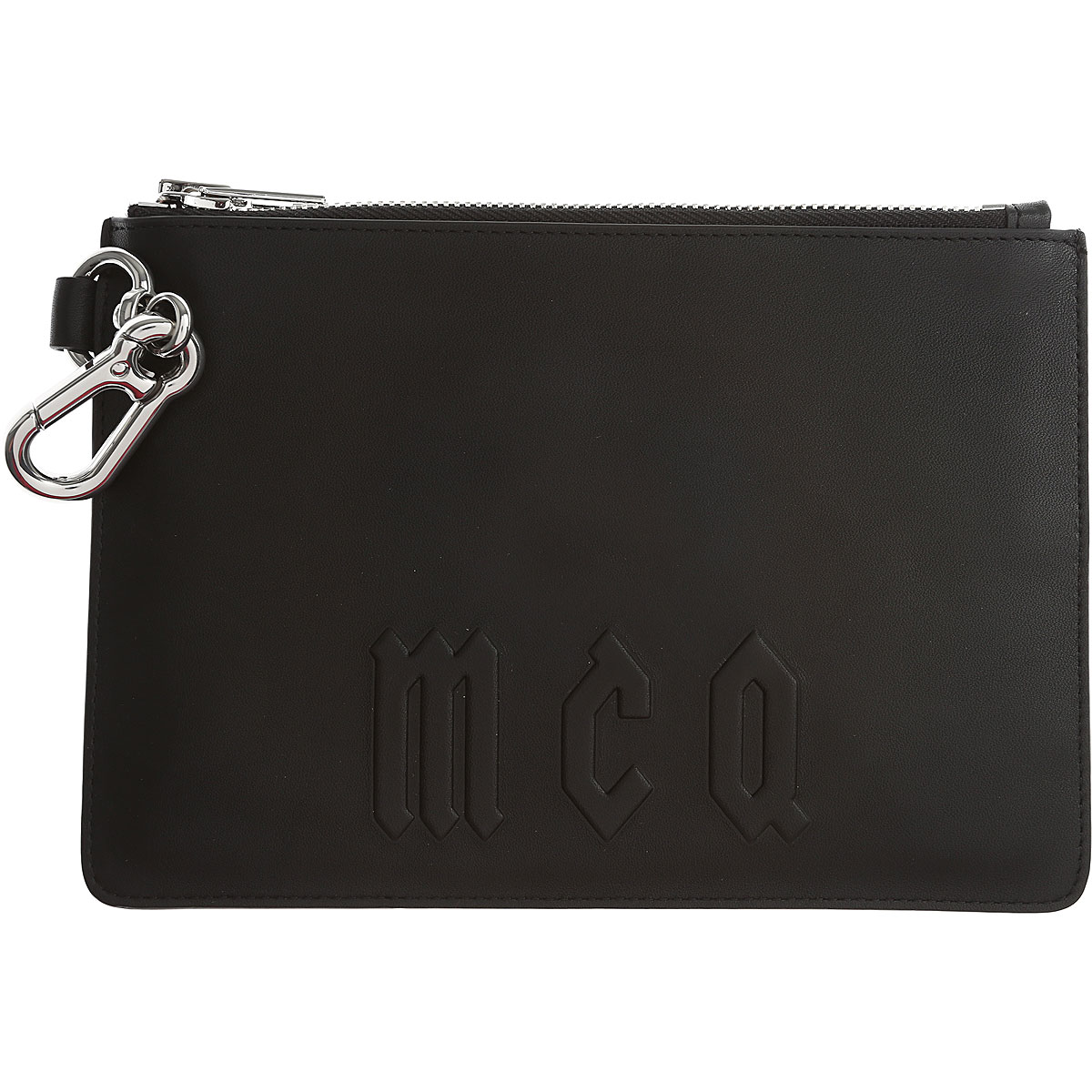 Image of Alexander McQueen McQ Pouches, Black, Leather, 2017