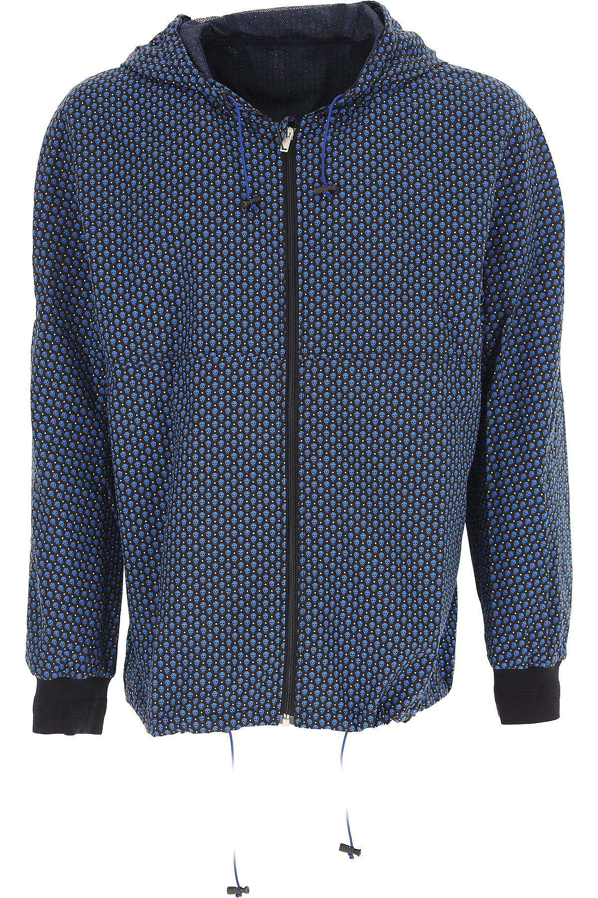 Image of Alexander McQueen Jacket for Men On Sale in Outlet, Black, Nylon, 2017, L M
