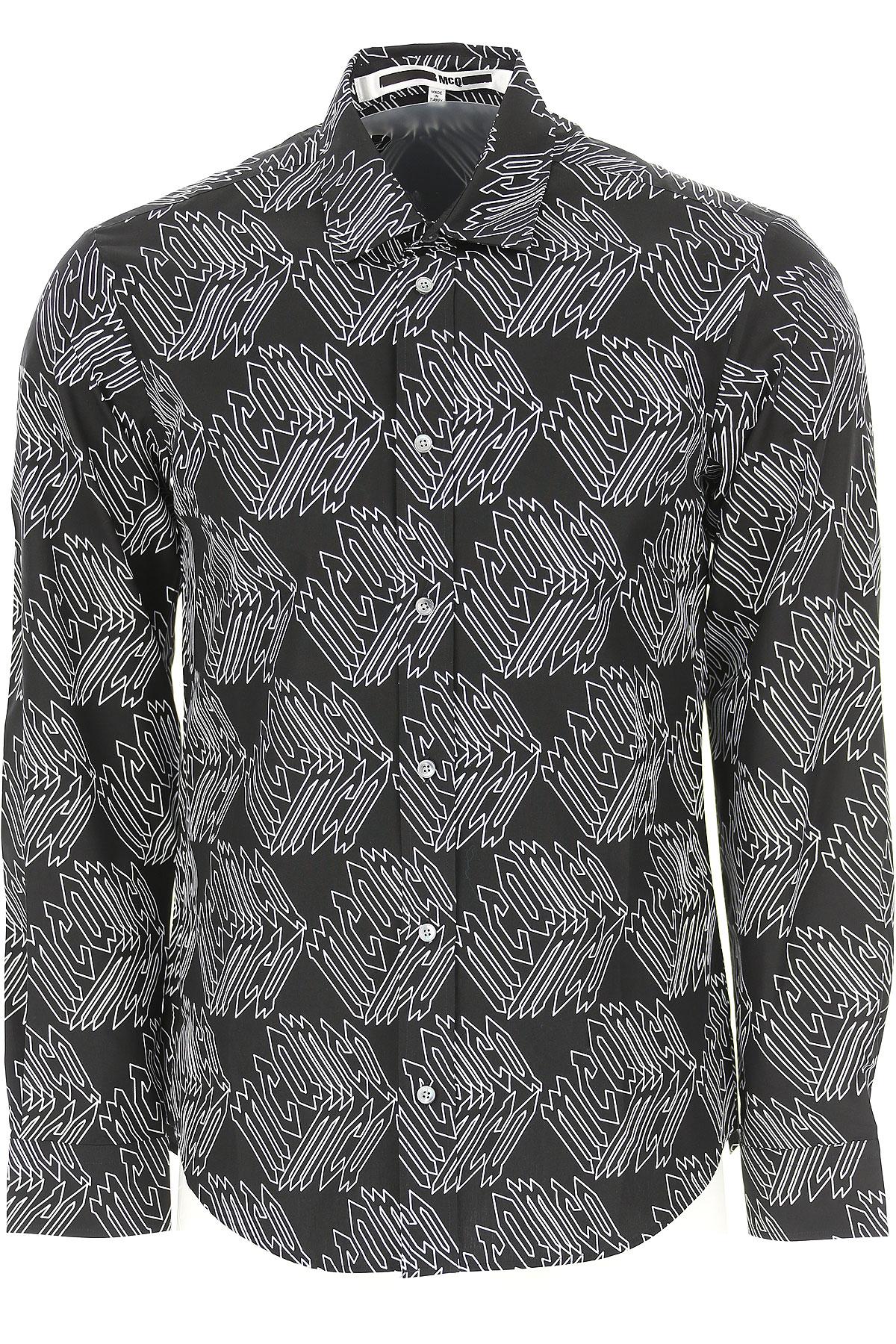 Image of Alexander McQueen McQ Shirt for Men, Black, Cotton, 2017, S • IT 46 M • IT 48 L • IT 50 XL • IT 52