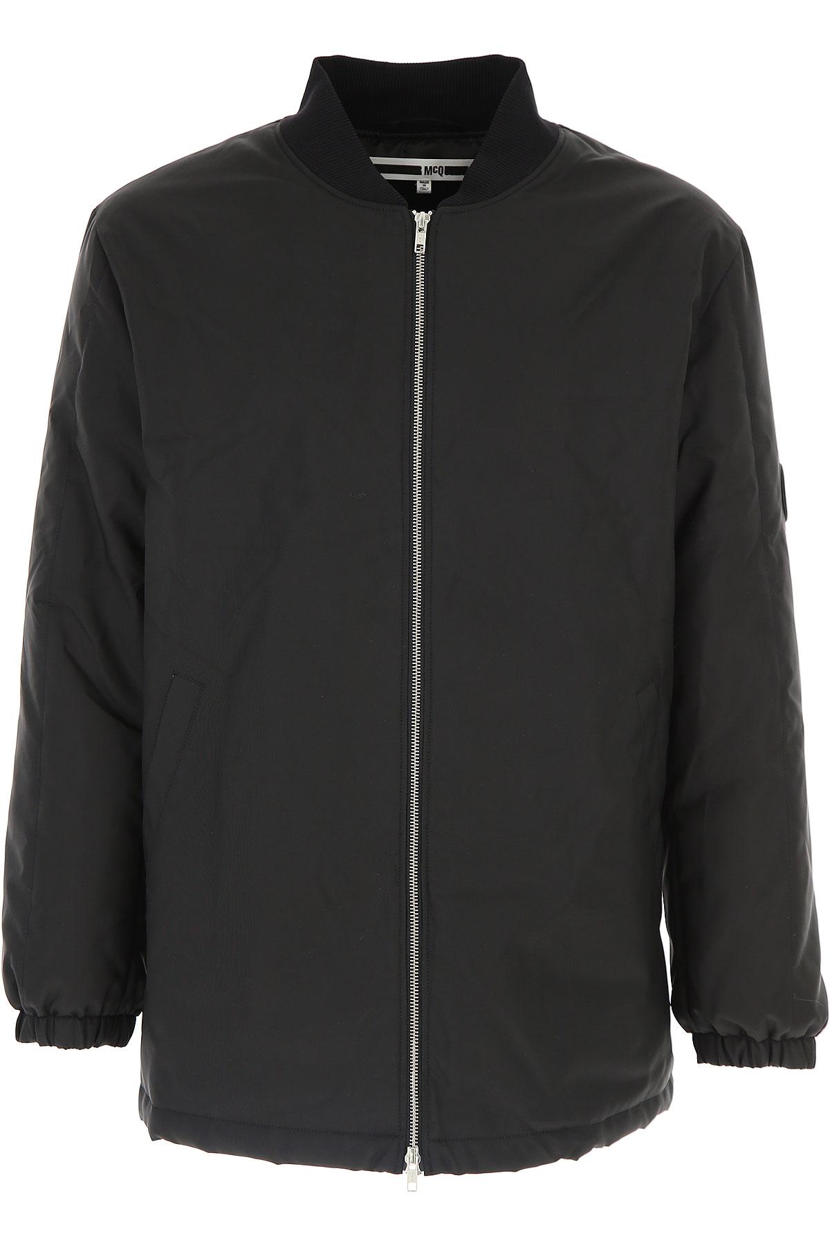 Image of Alexander McQueen McQ Down Jacket for Men, Puffer Ski Jacket On Sale, Black, polyamide, 2017, 1 - Uk/Usa S - Ita 46 2 - Uk/Usa M - Ita 48 3 - Uk/Usa L - Ita 50