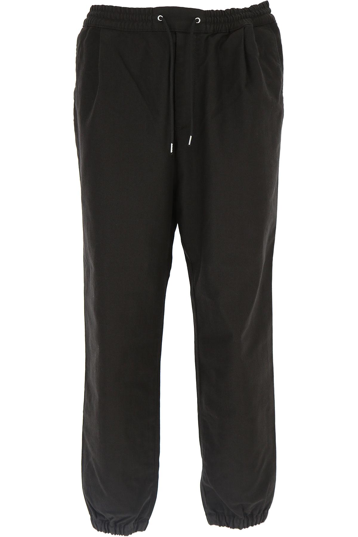 McQ Pantalon Homme Pas cher en Soldes, Noir, Coton, 2017, 46 48 50