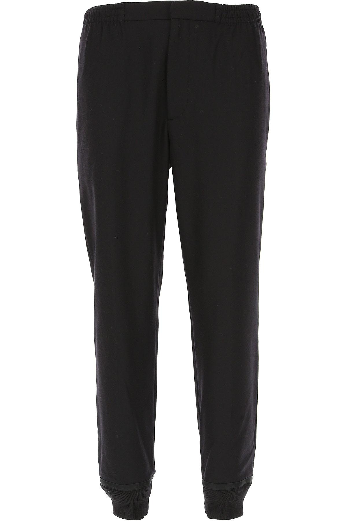 Image of Alexander McQueen Pants for Men, Black, Wool, 2017, 32 36