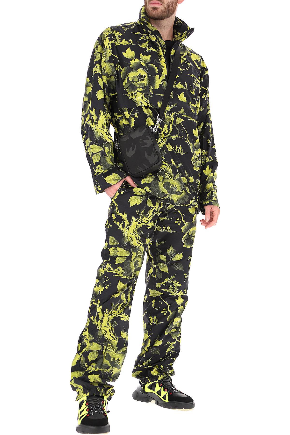 Alexander McQueen McQ Pants for Men On Sale, Black, poliammide, 2019, L M