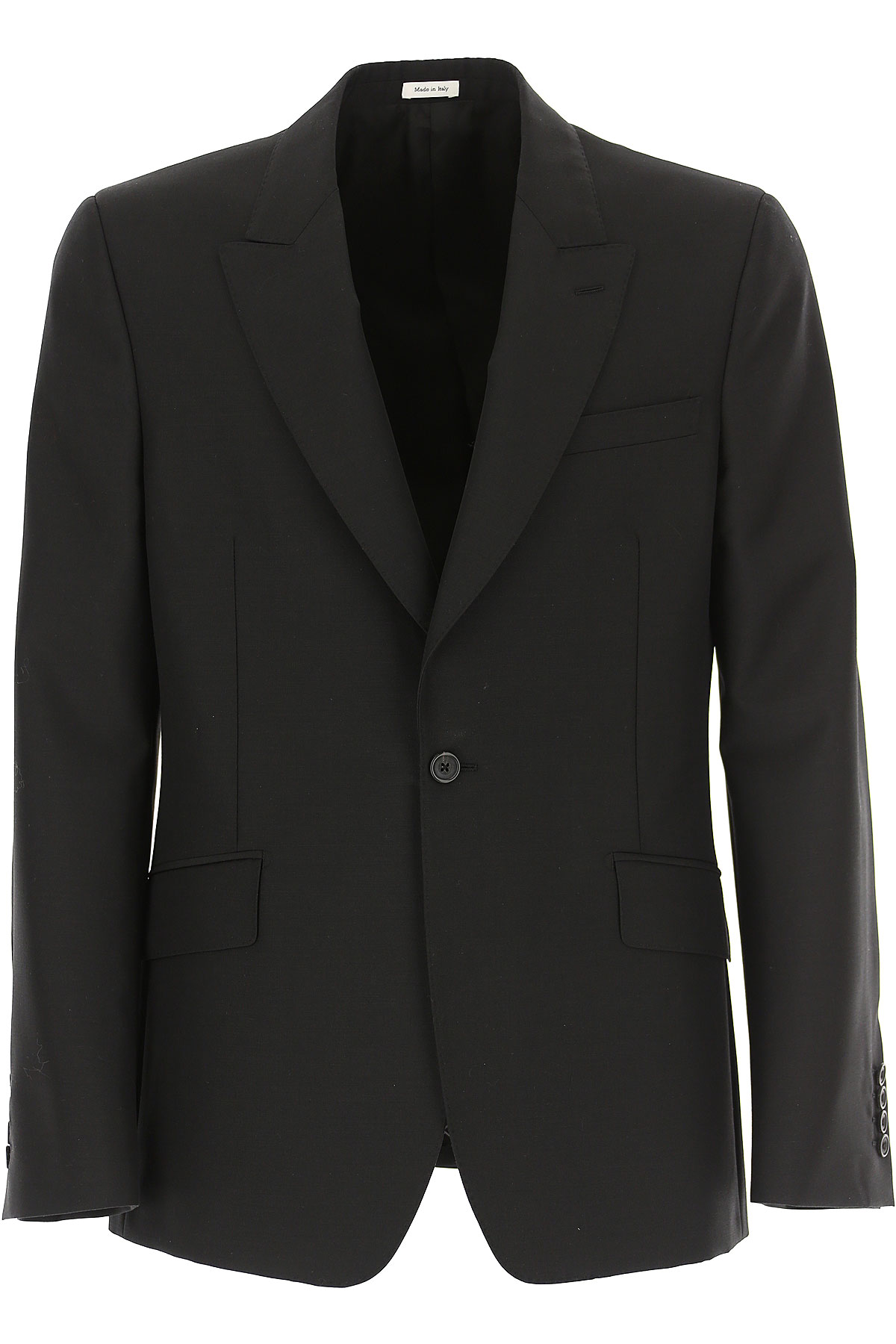 Alexander McQueen Blazer for Men, Sport Coat On Sale, Black, Wool, 2019, L M