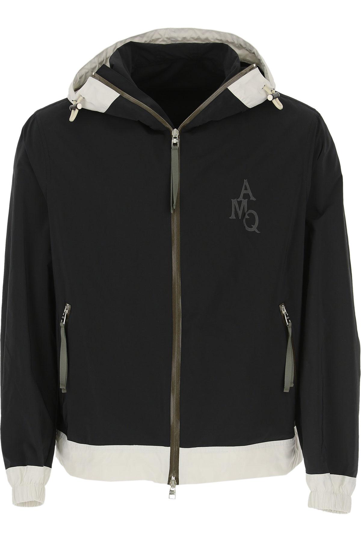 Alexander McQueen Jacket for Men On Sale, Black, polyester, 2019, L M XL