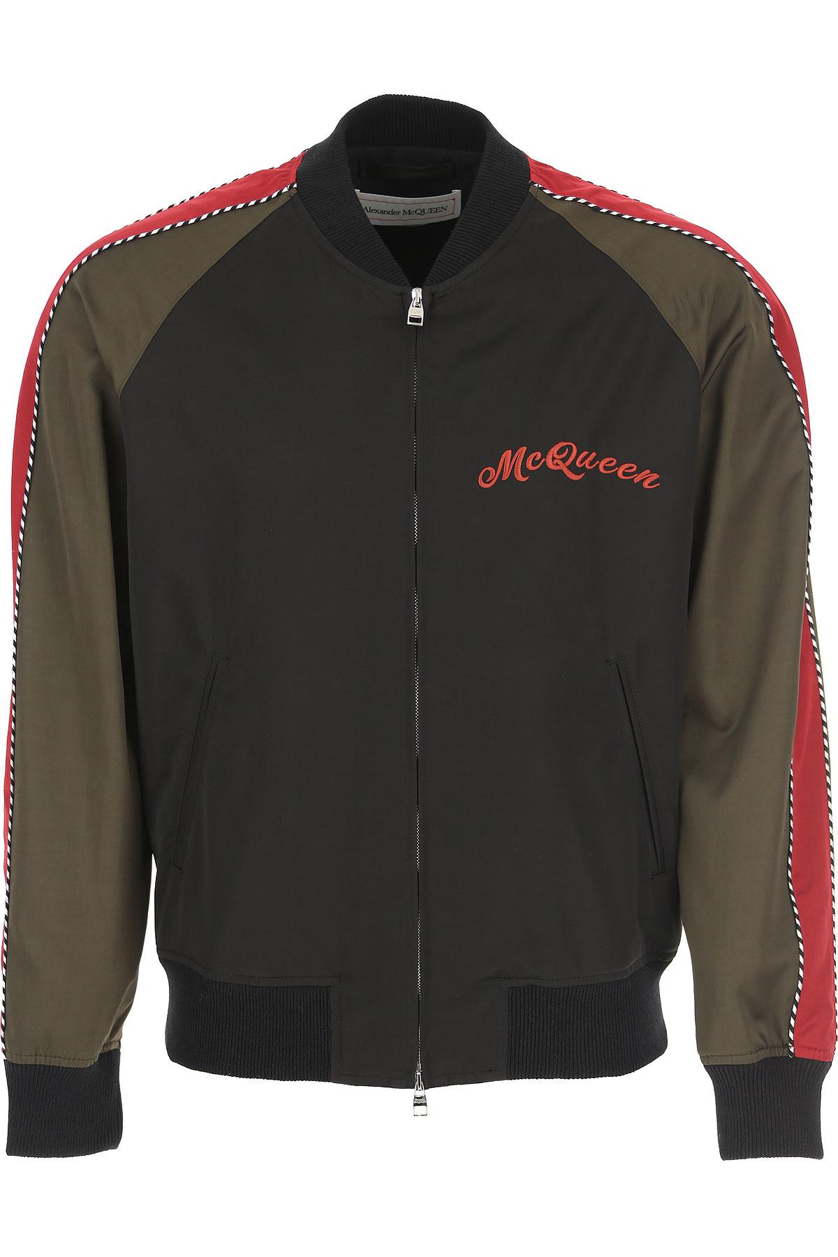 Alexander McQueen Jacket for Men On Sale, Black, Cotton, 2019, L M XL