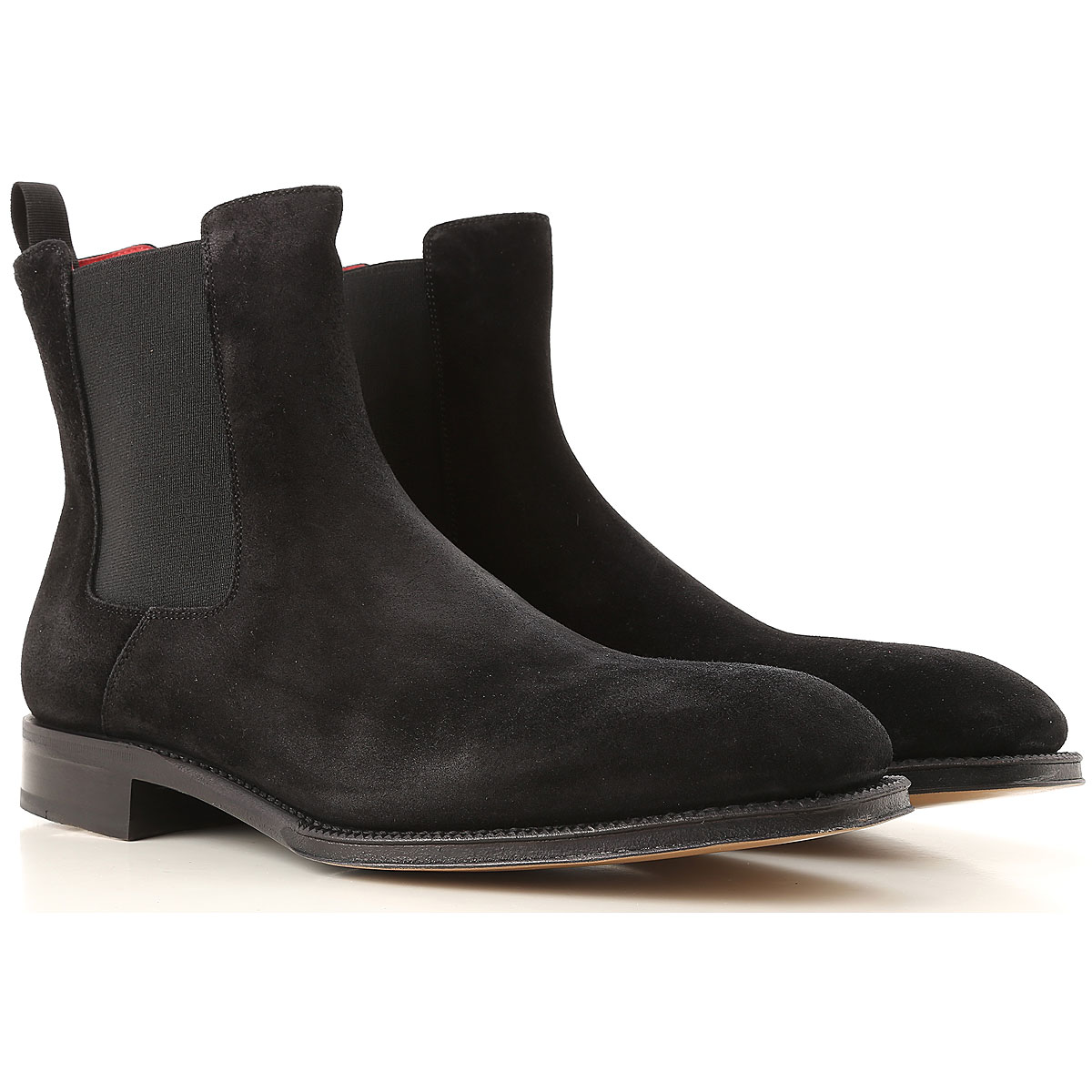 Image of Alexander McQueen Chelsea Boots for Men, Black, suede, 2017, EUR 40 - US 7 - UK 6 EUR 41 - US 8 - UK 7 EUR 42 - US 9 - UK 8 EUR 43 - US 10 - UK 9 EUR 44 - US 11 - UK 10 EUR 45 - US 12 - UK 11