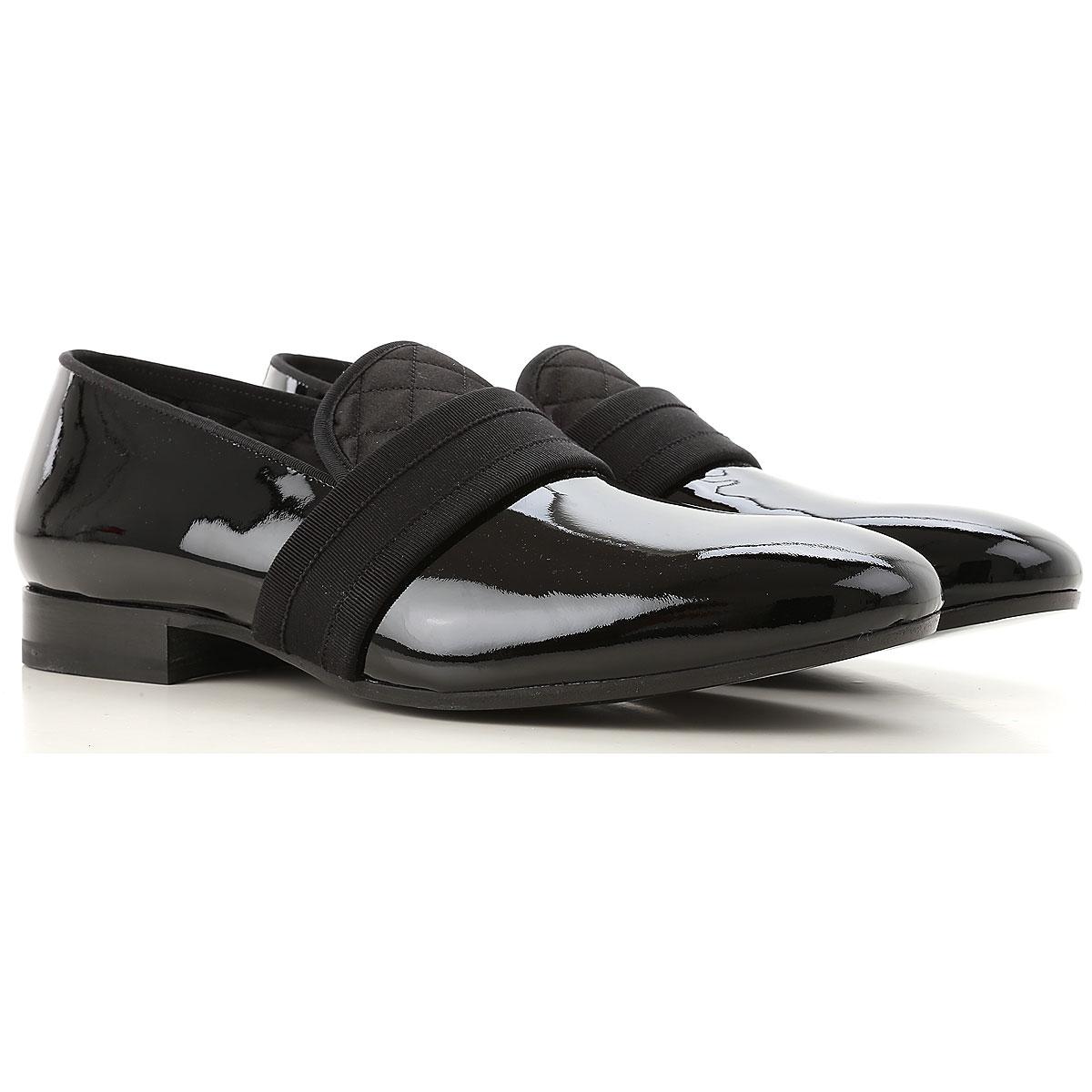 Image of Alexander McQueen Loafers for Men, Black, Eco Patent Leather, 2017, EUR 40 - US 7 - UK 6 EUR 43 - US 10 - UK 9 EUR 44 - US 11 - UK 10 EUR 45 - US 12 - UK 11