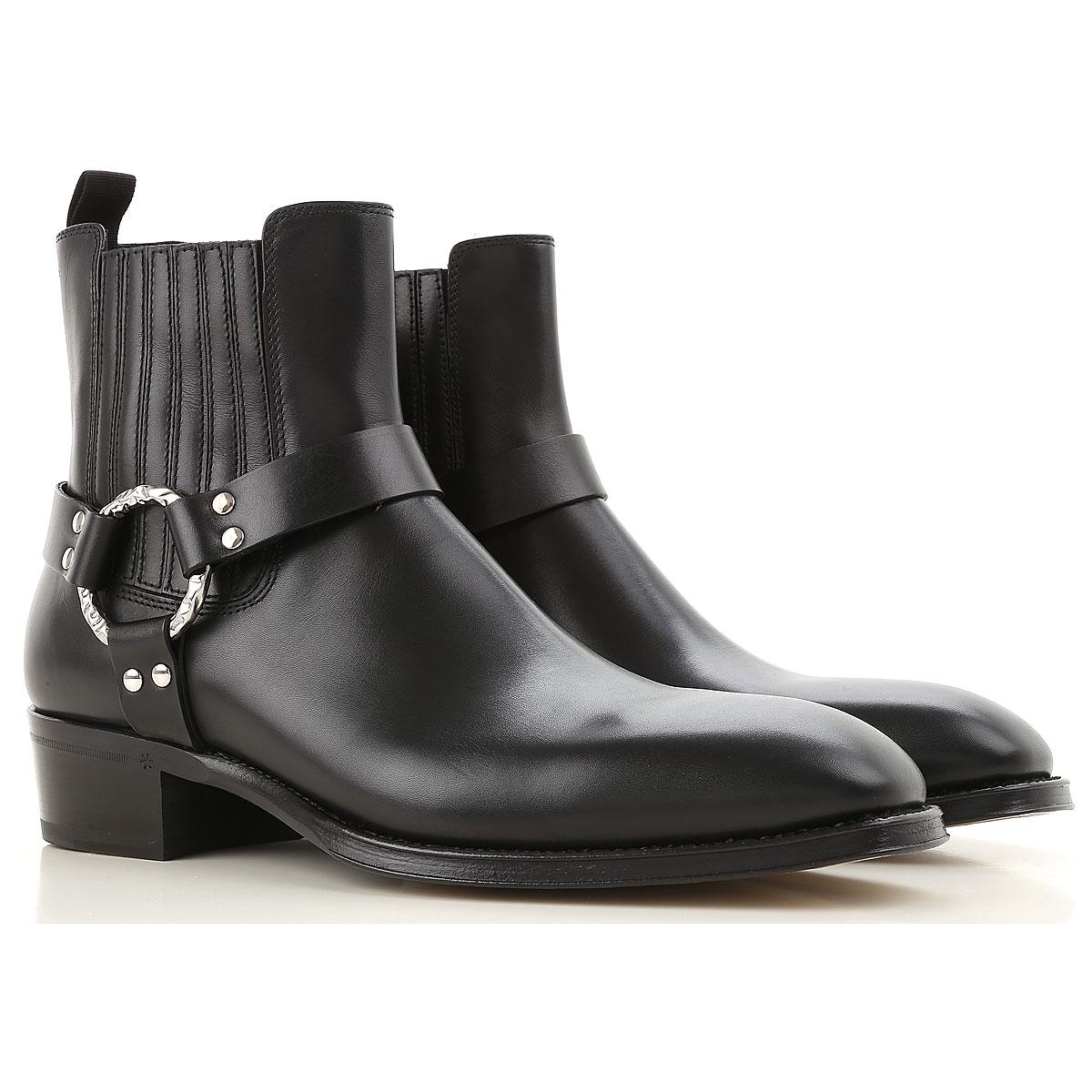Image of Alexander McQueen Boots for Men, Booties, Black, Leather, 2017, EUR 39 - US 6 - UK 5 EUR 40.5 - US 7.5 - UK 6.5 EUR 40 - US 7 - UK 6 EUR 41 - US 8 - UK 7 EUR 42 - US 9 - UK 8 EUR 43 - US 10 - UK 9 EUR 44 - US 11 - UK 10