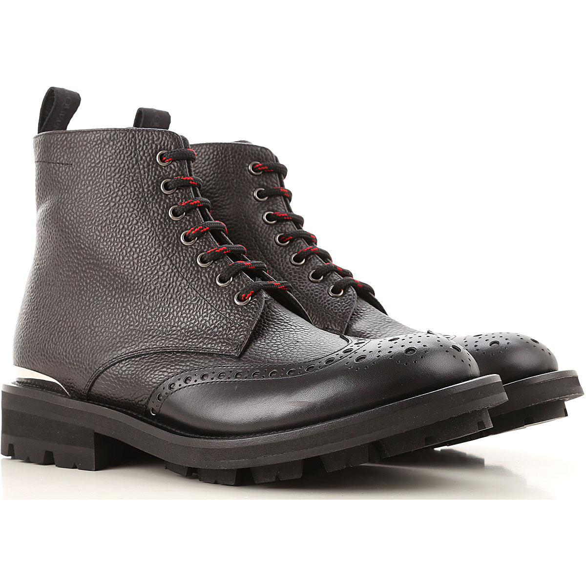 Alexander McQueen Boots for Men, Booties On Sale, Black, Crackle Leather, 2019, EUR 39 - US 6 - UK 5 EUR 40.5 - US 7.5 - UK 6.5 EUR 40 - US 7 - UK 6 E