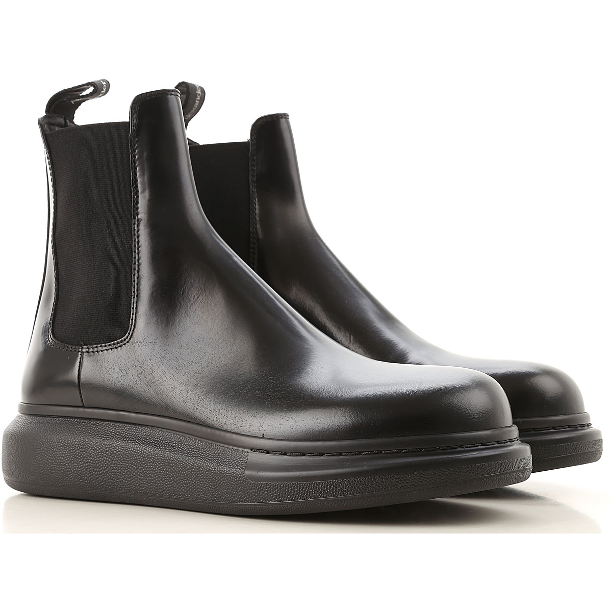 Alexander McQueen Chelsea Boots for Men On Sale, Black, Leather, 2019, EUR 42 - US 9 - UK 8 EUR 43 - US 10 - UK 9 EUR 44 - US 11 - UK 10 EUR 45 - US 1