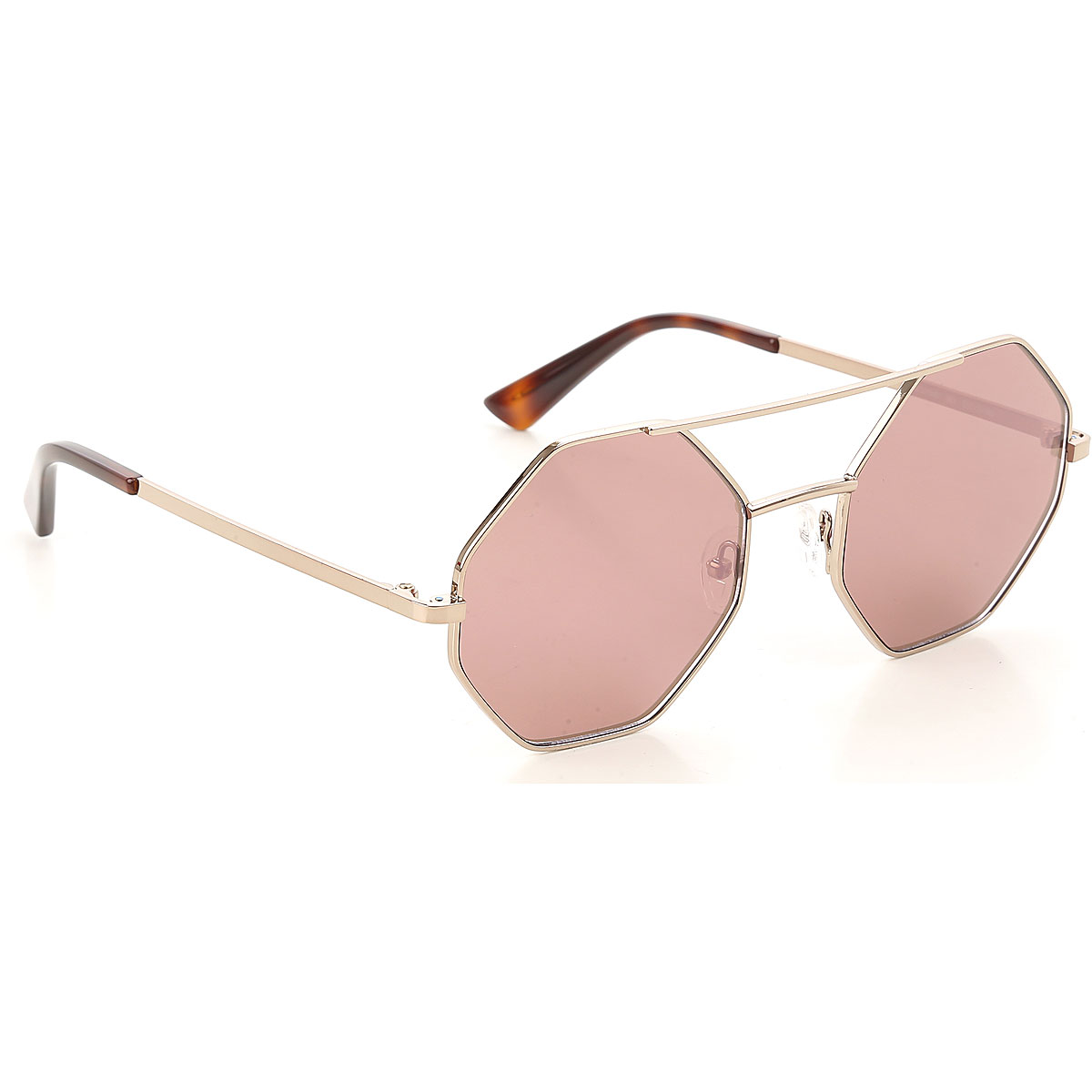 Alexander McQueen McQ Sunglasses On Sale, Gold Rose, 2019