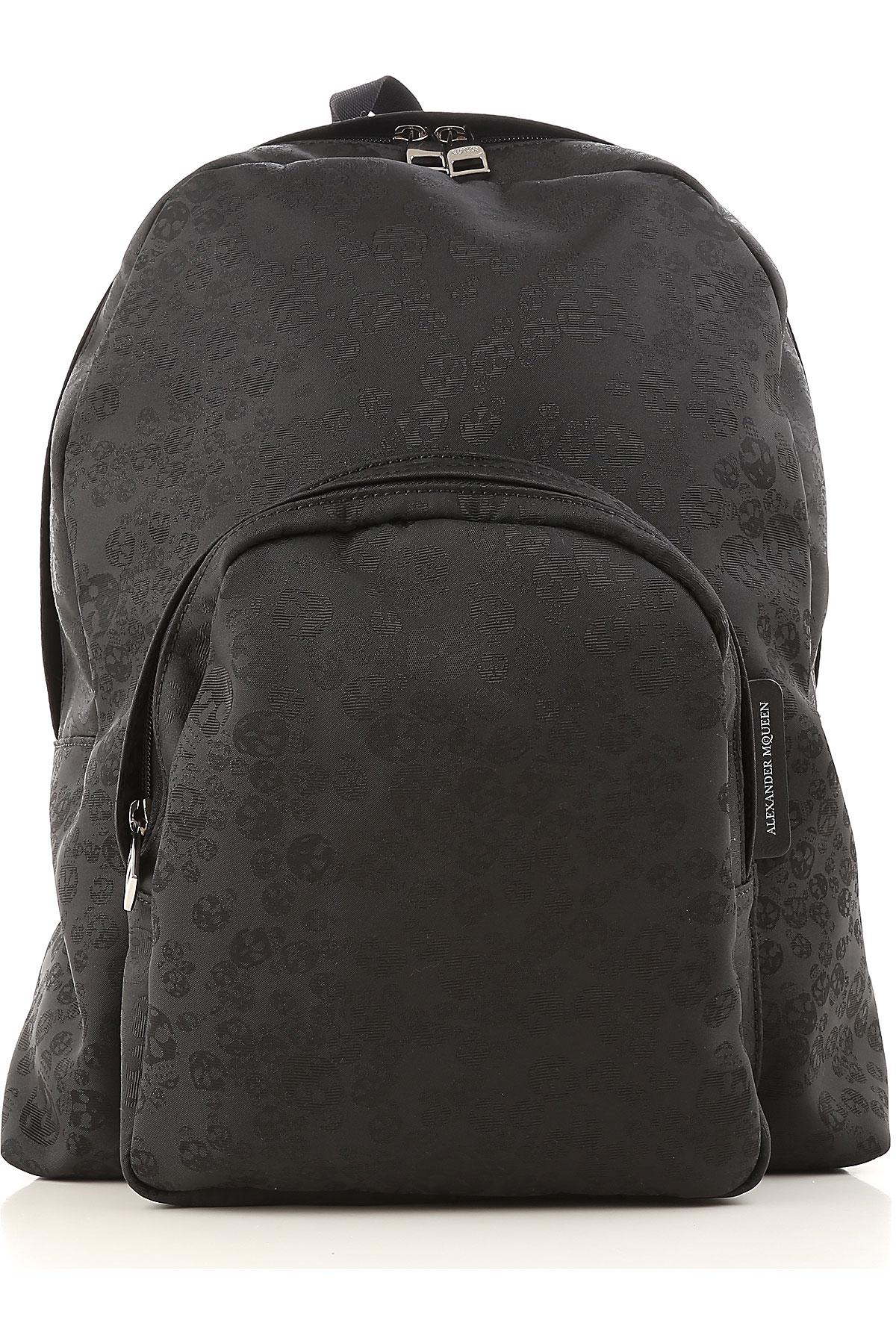 Image of Alexander McQueen Backpack for Men, Black, Fabric, 2017