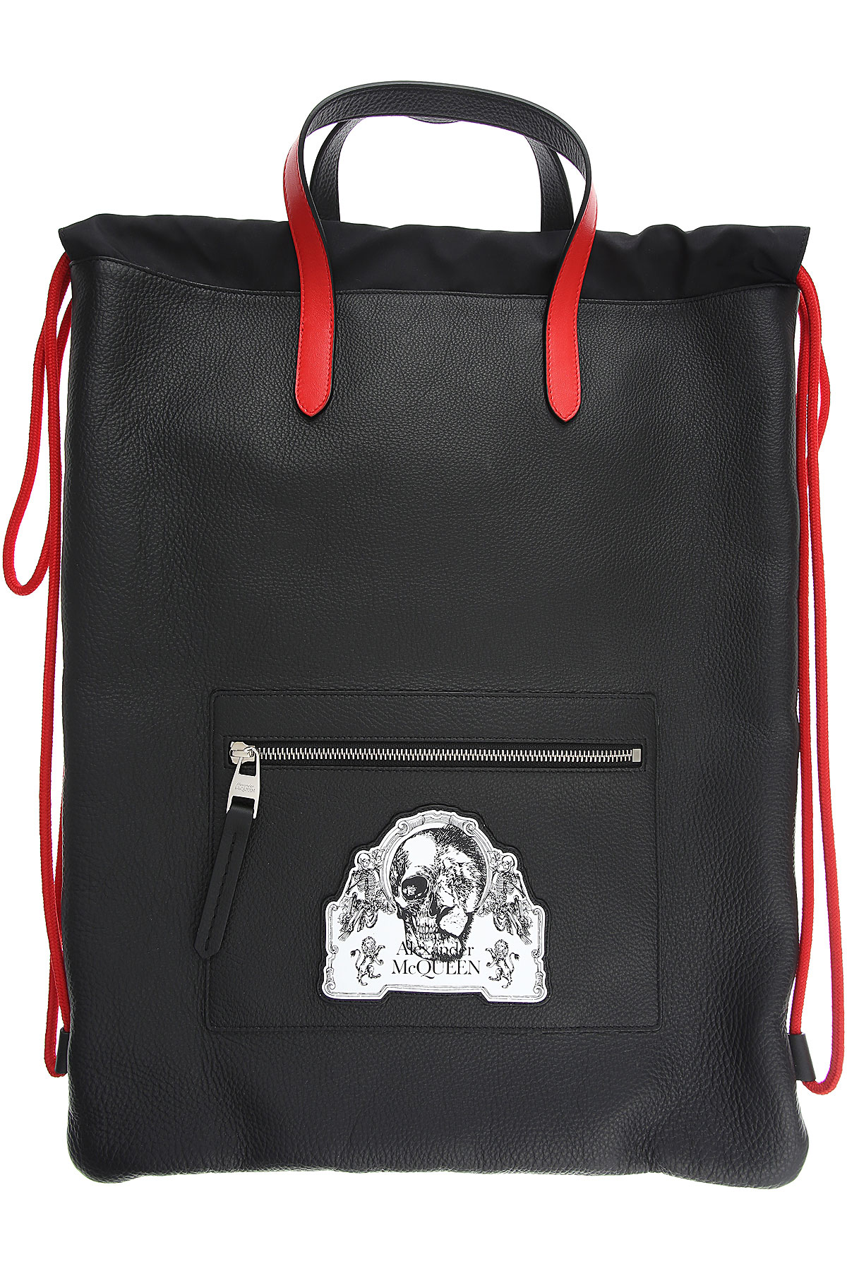 Alexander McQueen Backpack for Men On Sale, Black, Leather, 2019
