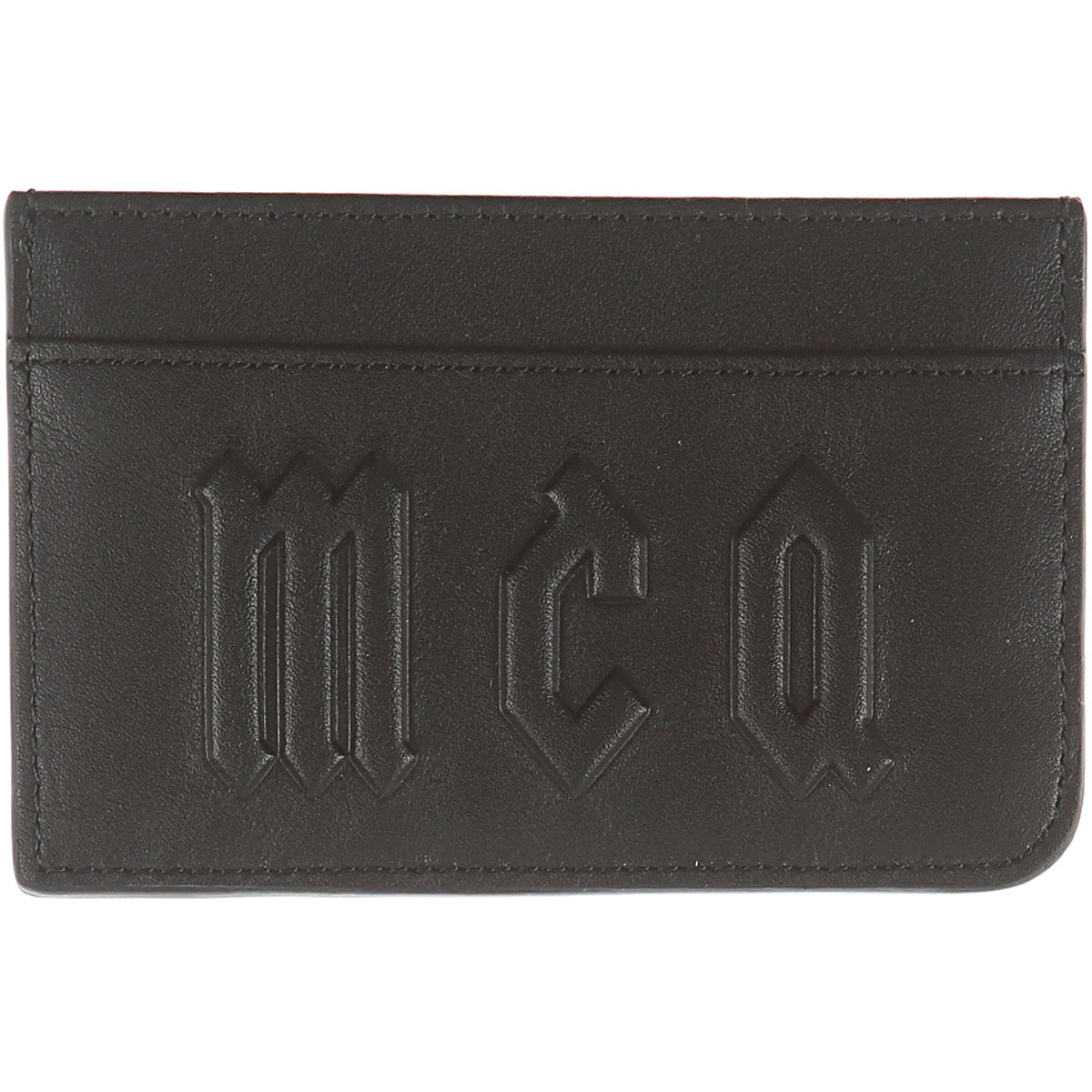 Image of Alexander McQueen McQ Card Holder for Men, Black, Leather, 2017