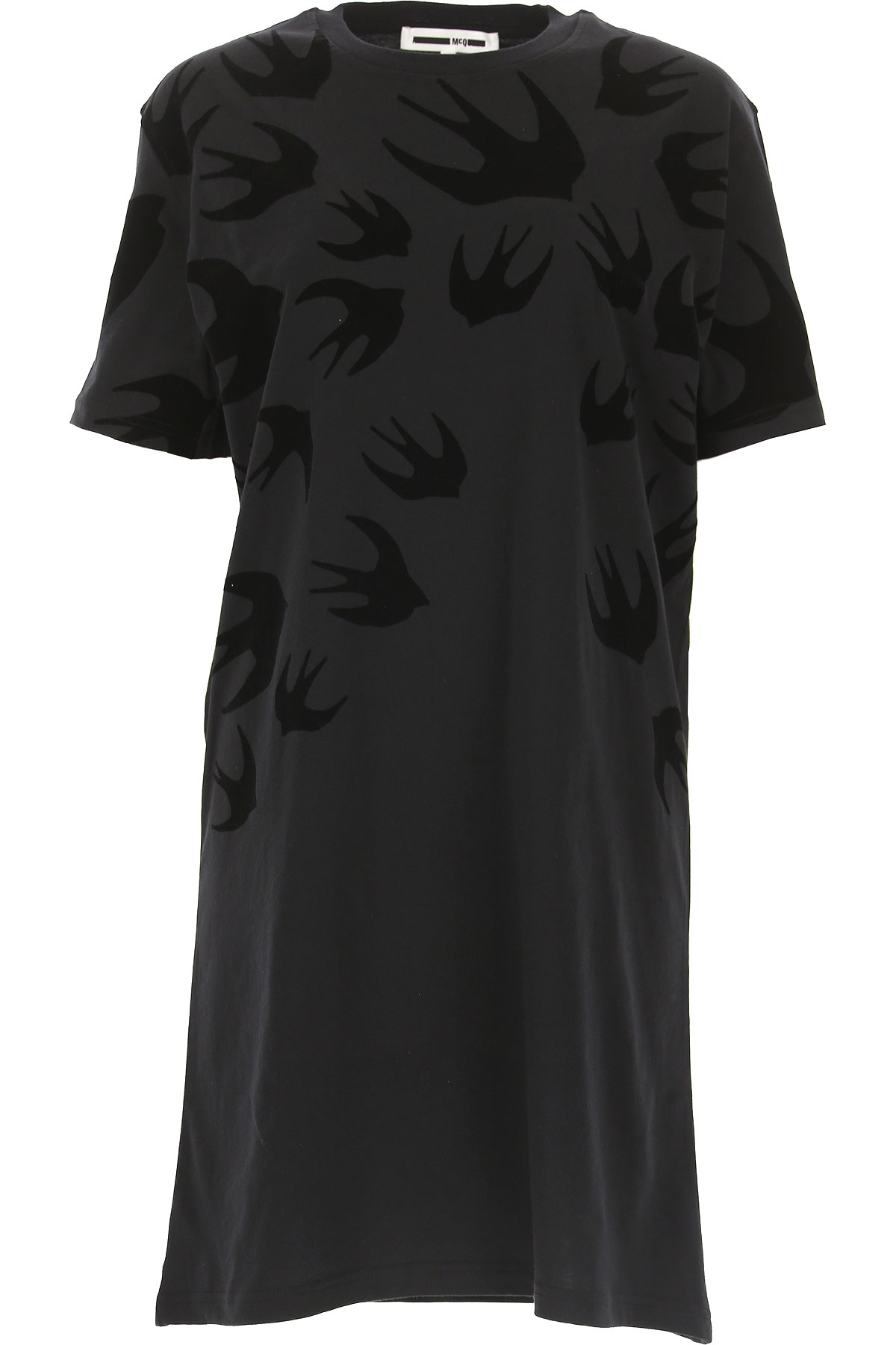 Alexander McQueen McQ Dress for Women, Evening Cocktail Party On Sale, Black, Cotton, 2019, 2 4 6