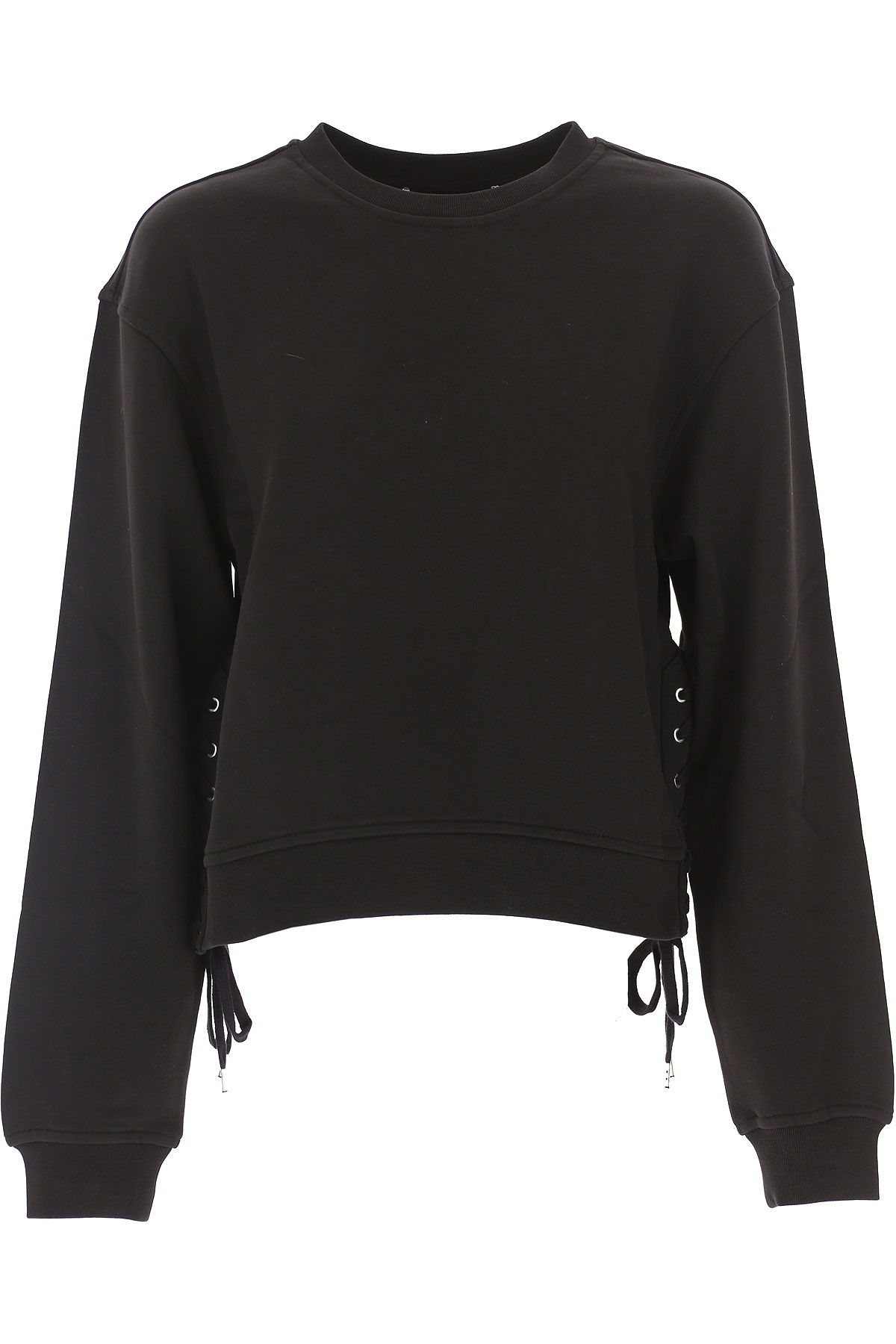 Image of Alexander McQueen McQ Sweatshirt for Women On Sale, Black, Cotton, 2017, 2 4 6