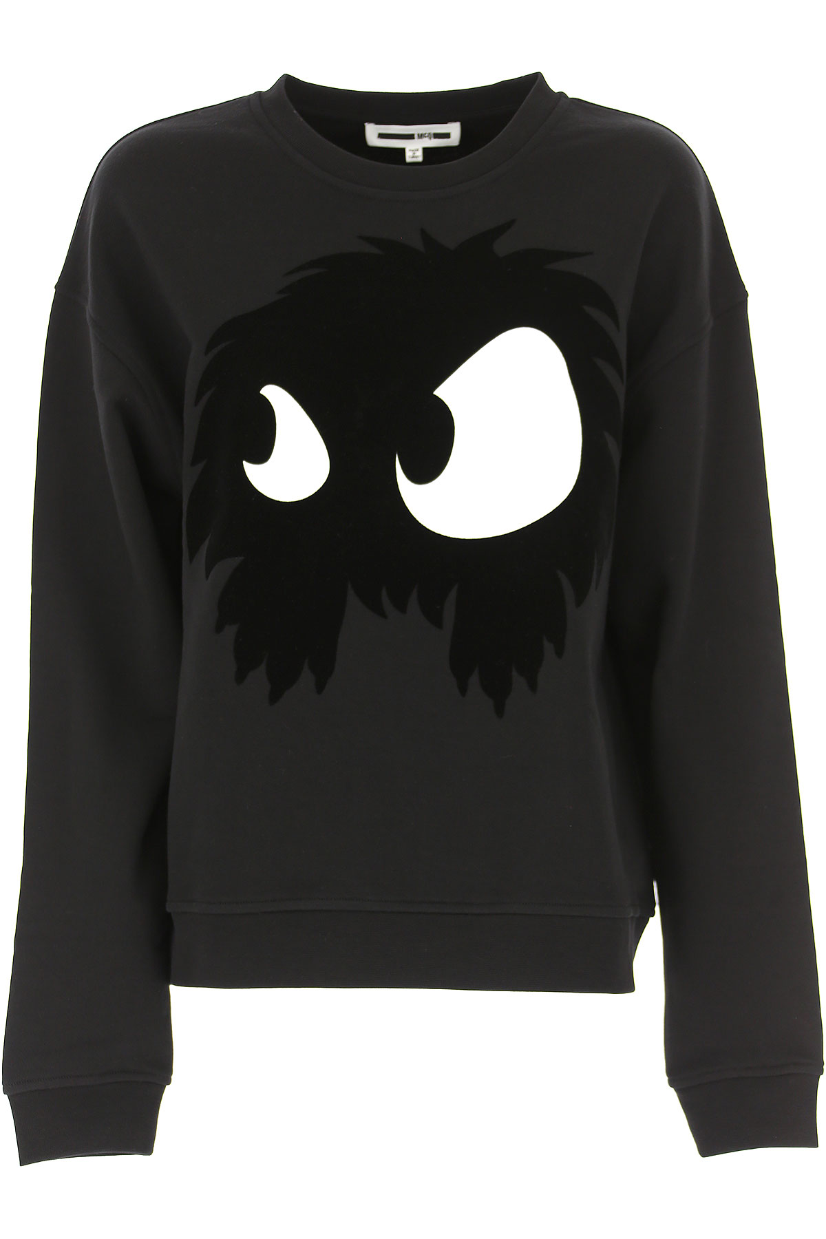 Image of Alexander McQueen McQ Sweatshirt for Women, Black, Cotton, 2017, 2 4