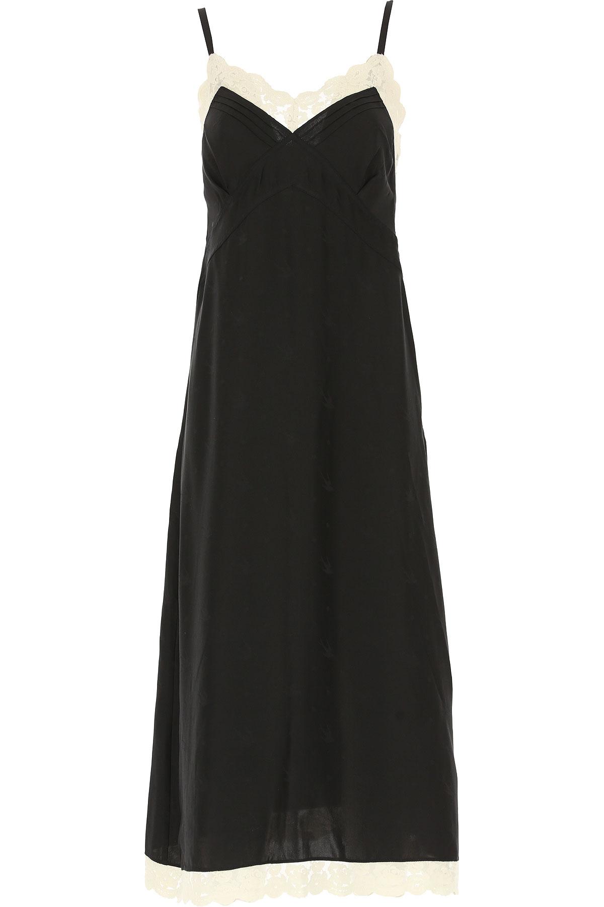 Image of Alexander McQueen McQ Dress for Women, Evening Cocktail Party, Black, Silk, 2017, UK 8 - US 6 - EU 40 UK 10 - US 8 - EU 42