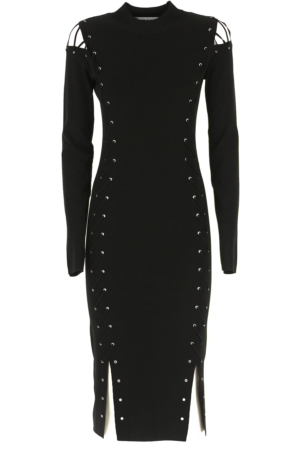 Alexander McQueen McQ Dress for Women, Evening Cocktail Party On Sale, Black, viscosa, 2019, 4 6