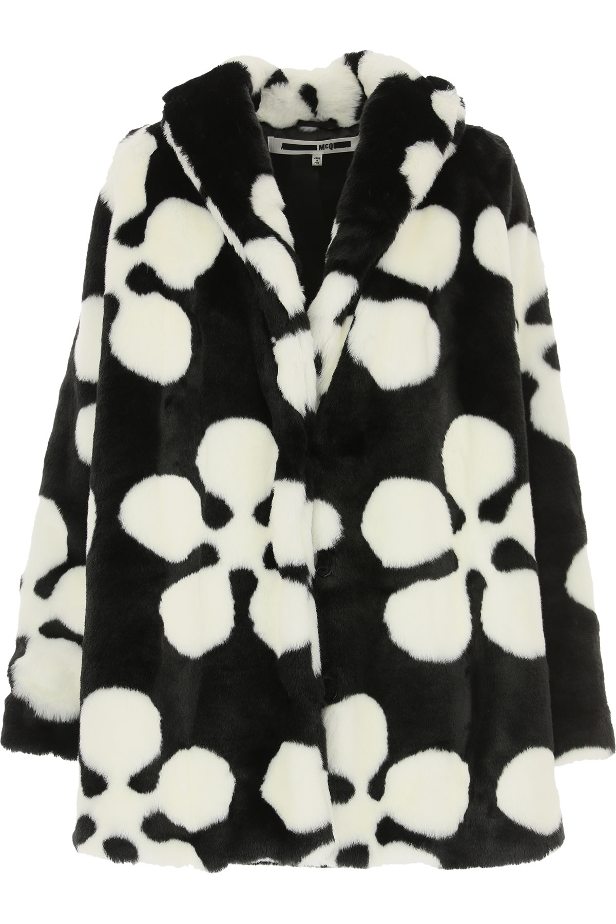 Alexander McQueen McQ Down Jacket for Women, Puffer Ski Jacket On Sale, Black, modacrylic, 2019, 4 6 8