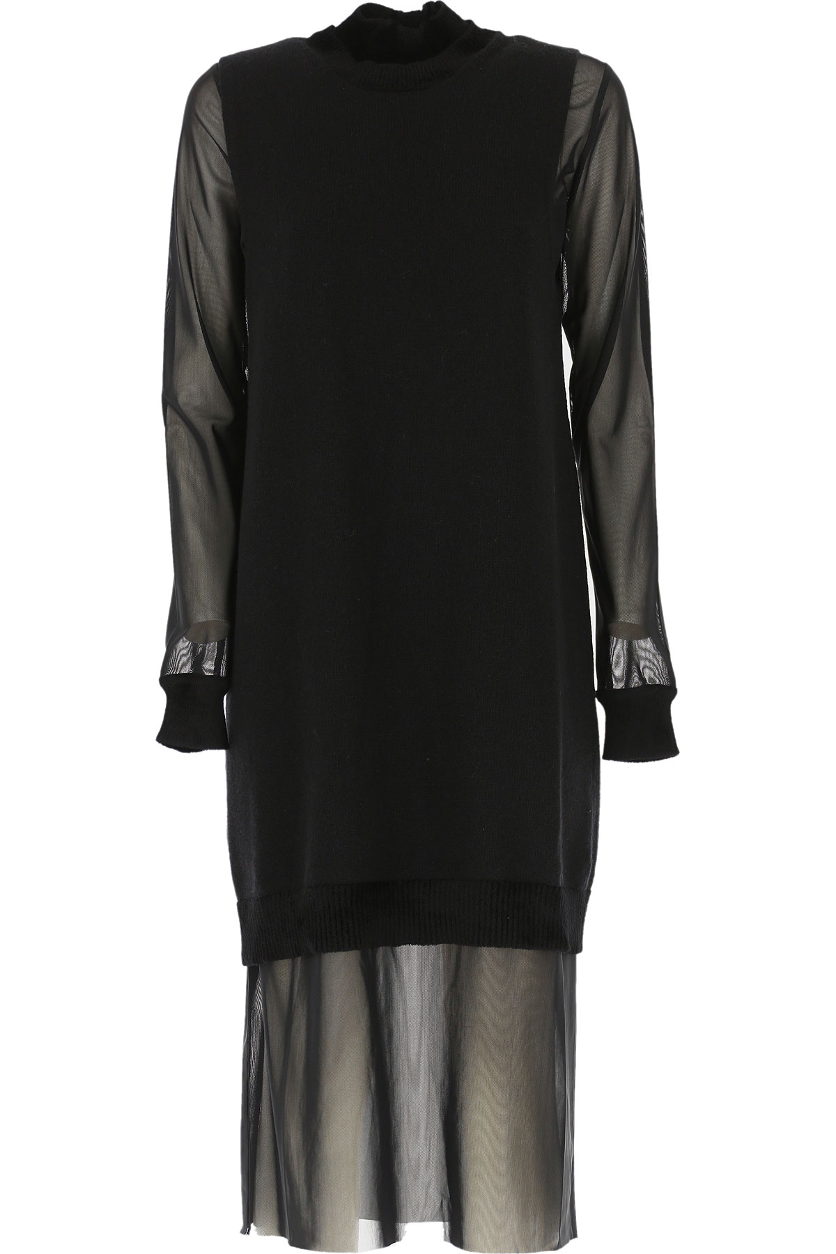 Alexander McQueen McQ Dress for Women, Evening Cocktail Party On Sale, Black, Wool, 2019, 4 6