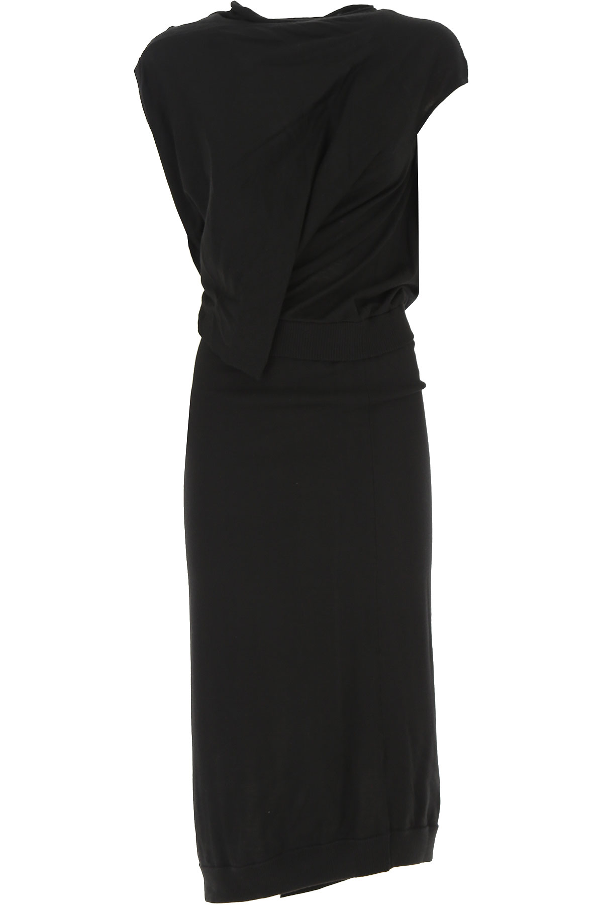 Alexander McQueen McQ Dress for Women, Evening Cocktail Party On Sale, Black, Wool, 2019, 2 4 8