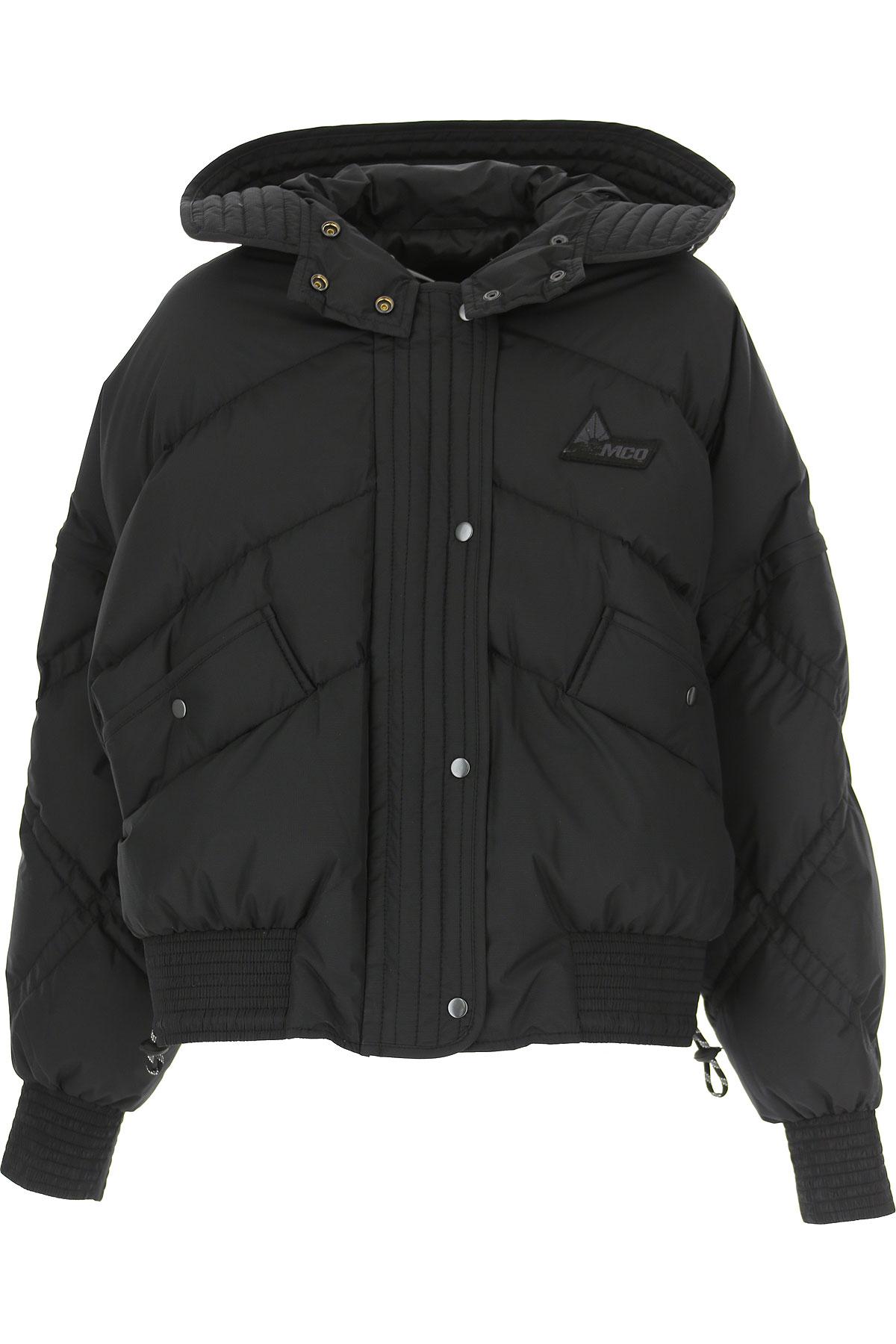 Alexander McQueen McQ Down Jacket for Women, Puffer Ski Jacket On Sale, Black, polyestere, 2019, 4 6
