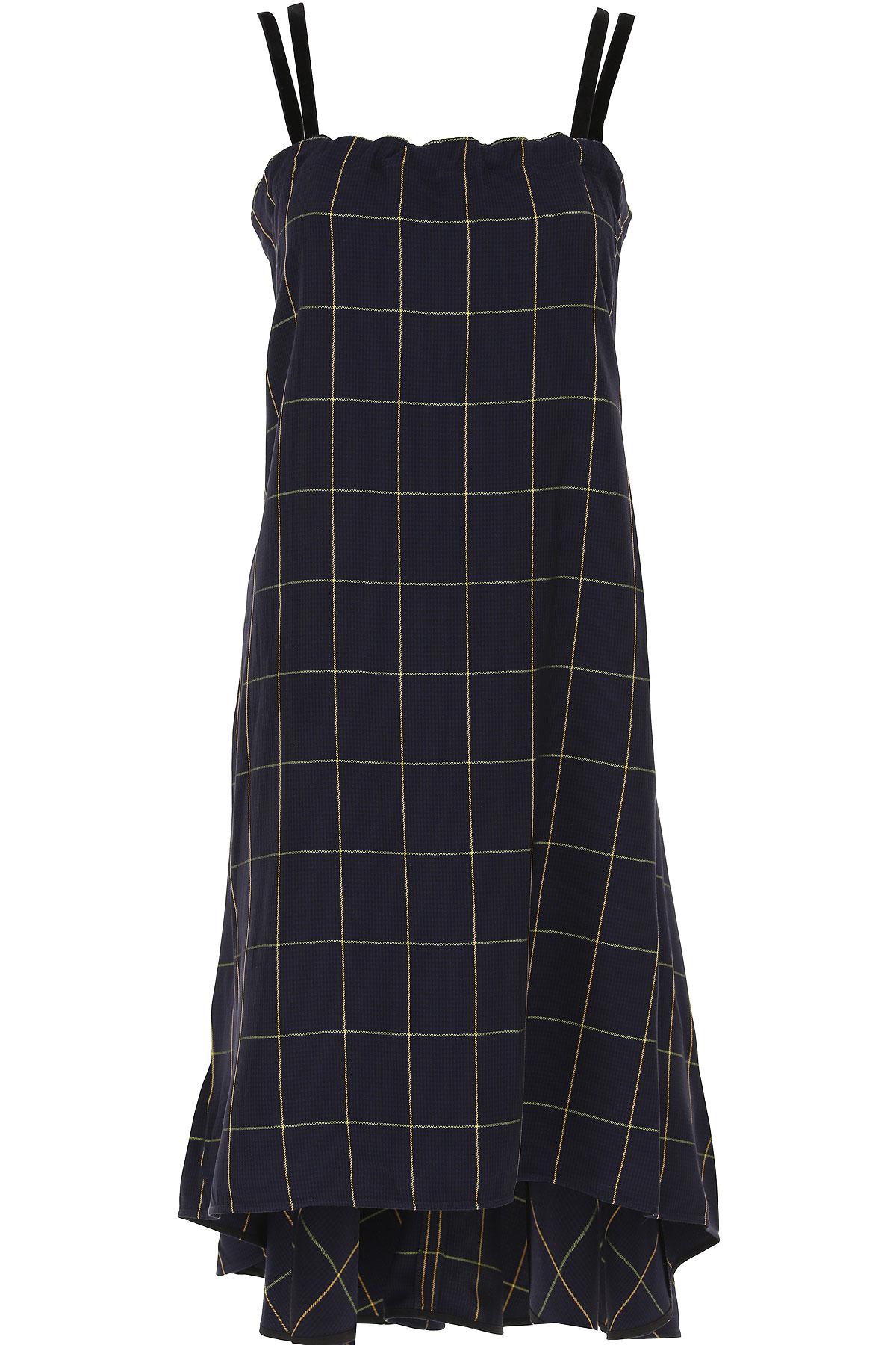 Alexander McQueen McQ Dress for Women, Evening Cocktail Party On Sale, Dark Midnight Blue, Cotton, 2019, 10 4 6 8