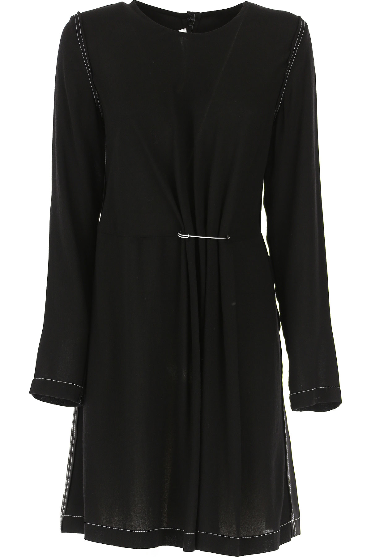 Alexander McQueen McQ Dress for Women, Evening Cocktail Party On Sale, Black, viscosa, 2019, 4 6 8