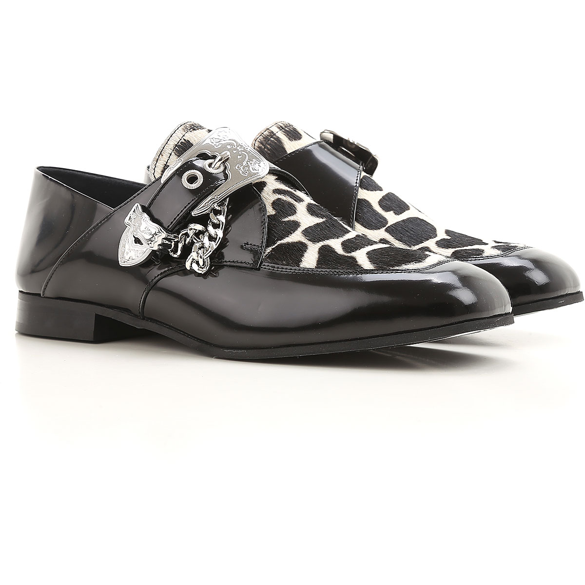 Image of Alexander McQueen McQ Loafers for Women On Sale in Outlet, Black, Patent, 2017, 6 7 8